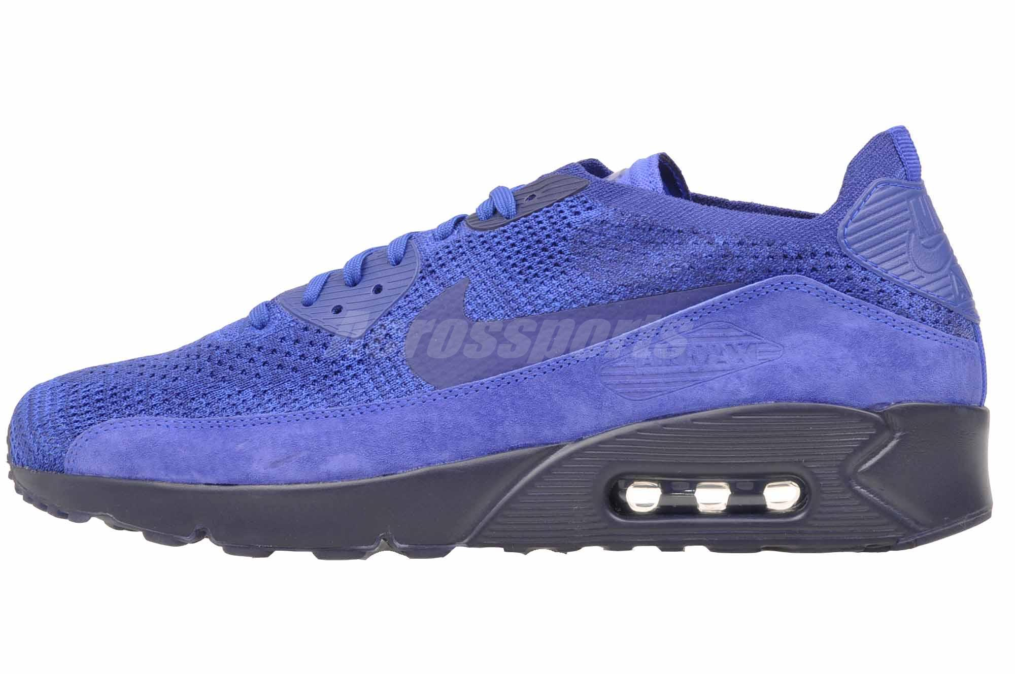 Details about Nike Air Max 90 Ultra 2.0 Flyknit Running Mens Shoes Racer  Blue 875943-402 ad66b163c