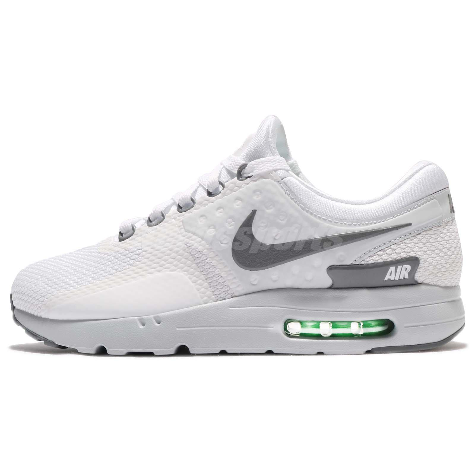 Nike Air Max Zero Essential White Cool Grey Men Running Shoes Sneaker  876070-102
