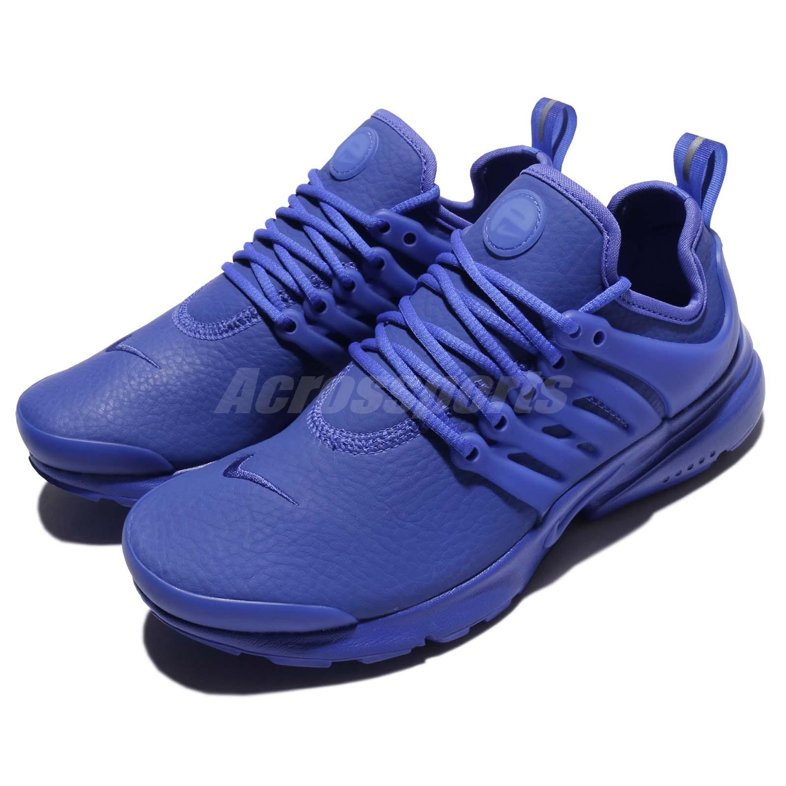 brand new 31fda b89fe Details about Nike Wmns Air Presto PRM Triple Paramount Blue Leather Women  Shoe 878071-401