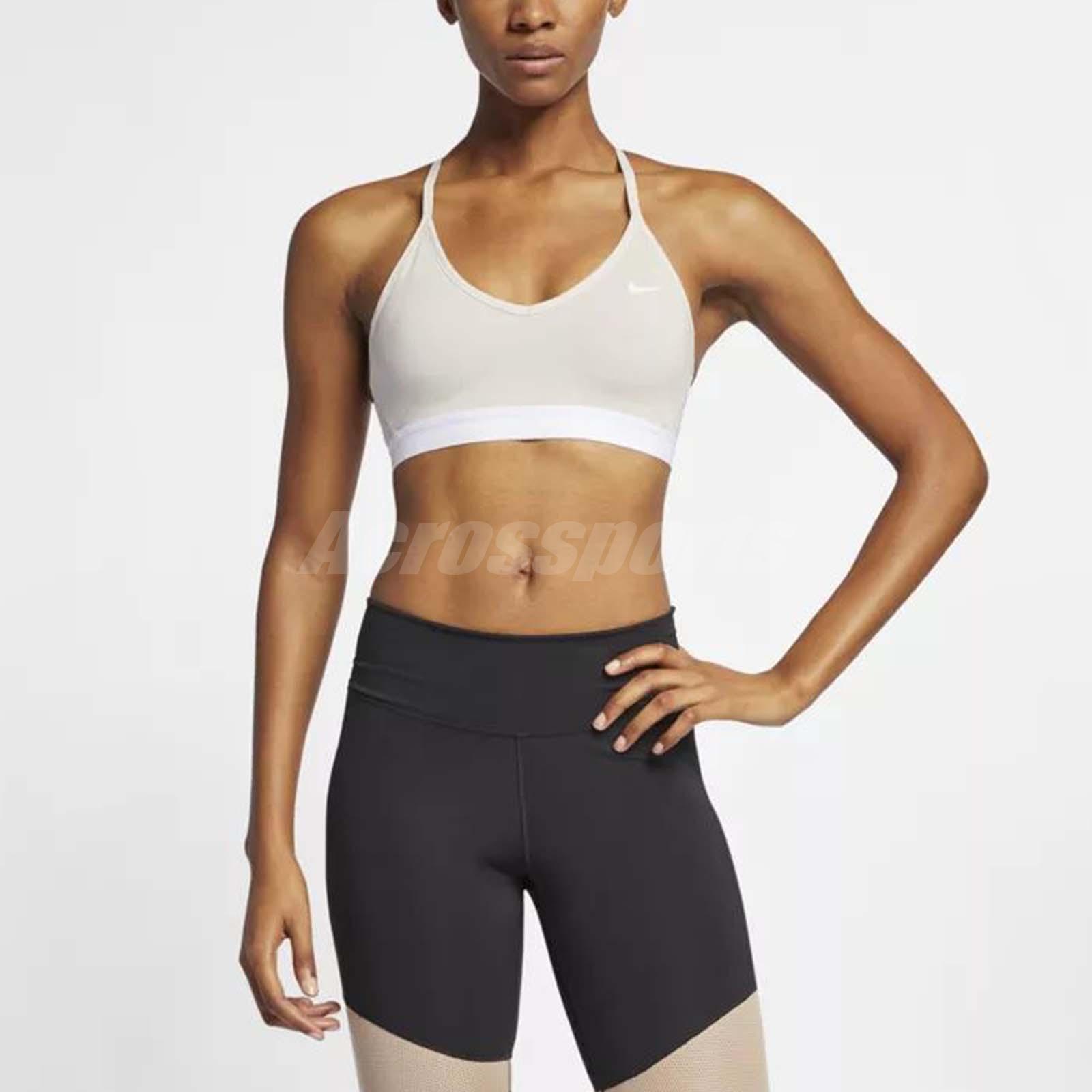 80cebd06555ee Nike Women Indy Light Support Sports Bra Yoga Pilates Workout Khaki  878615-008