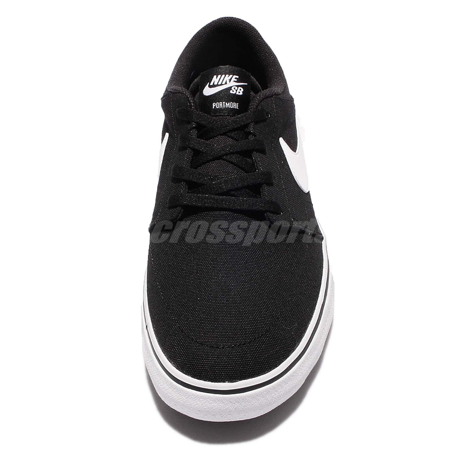 Nike Sb Portmore Ii 2 Solar Cnvs Canvs Men Black Shoes