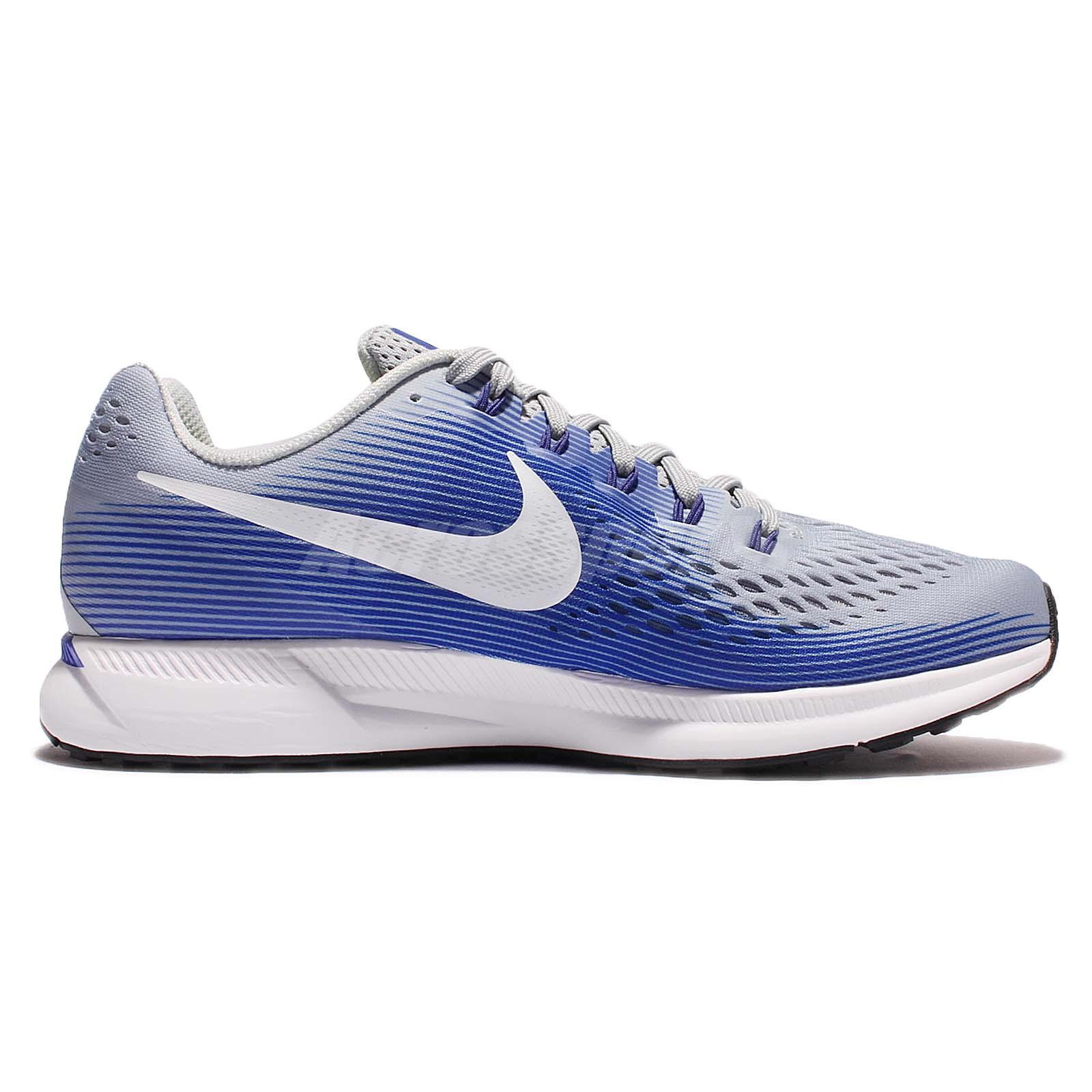 113b5e08b4cce Nike Air Zoom Pegasus 34 Racer Blue Grey Men Running Shoes Sneakers ...