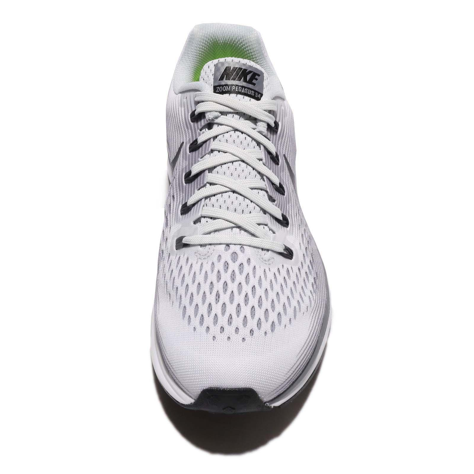 low cost 0e8c6 9636a Nike Air Zoom Pegasus 34 Pure Platinum Anthracite Men Running Shoes ...