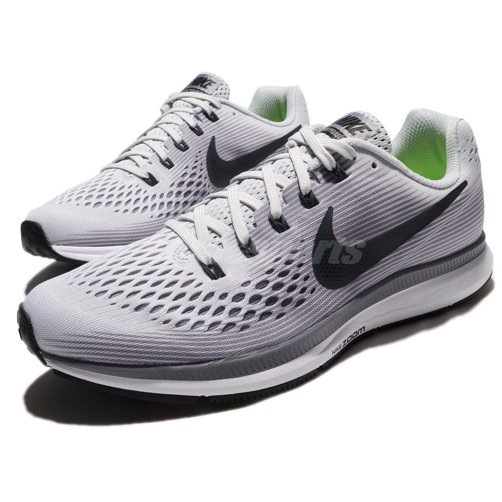 size 40 a745c 04482 Details about Nike Air Zoom Pegasus 34 Pure Platinum Anthracite Men Running  Shoes 880555-010