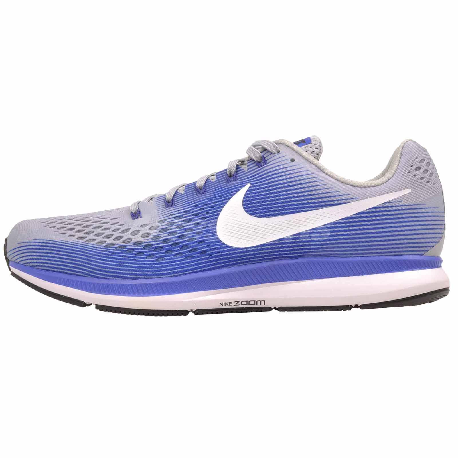 san francisco b09cd b22f1 Details about Nike Air Zoom Pegasus 34 (4E) Running Shoes Mens Wide Grey  Blue 880557-007