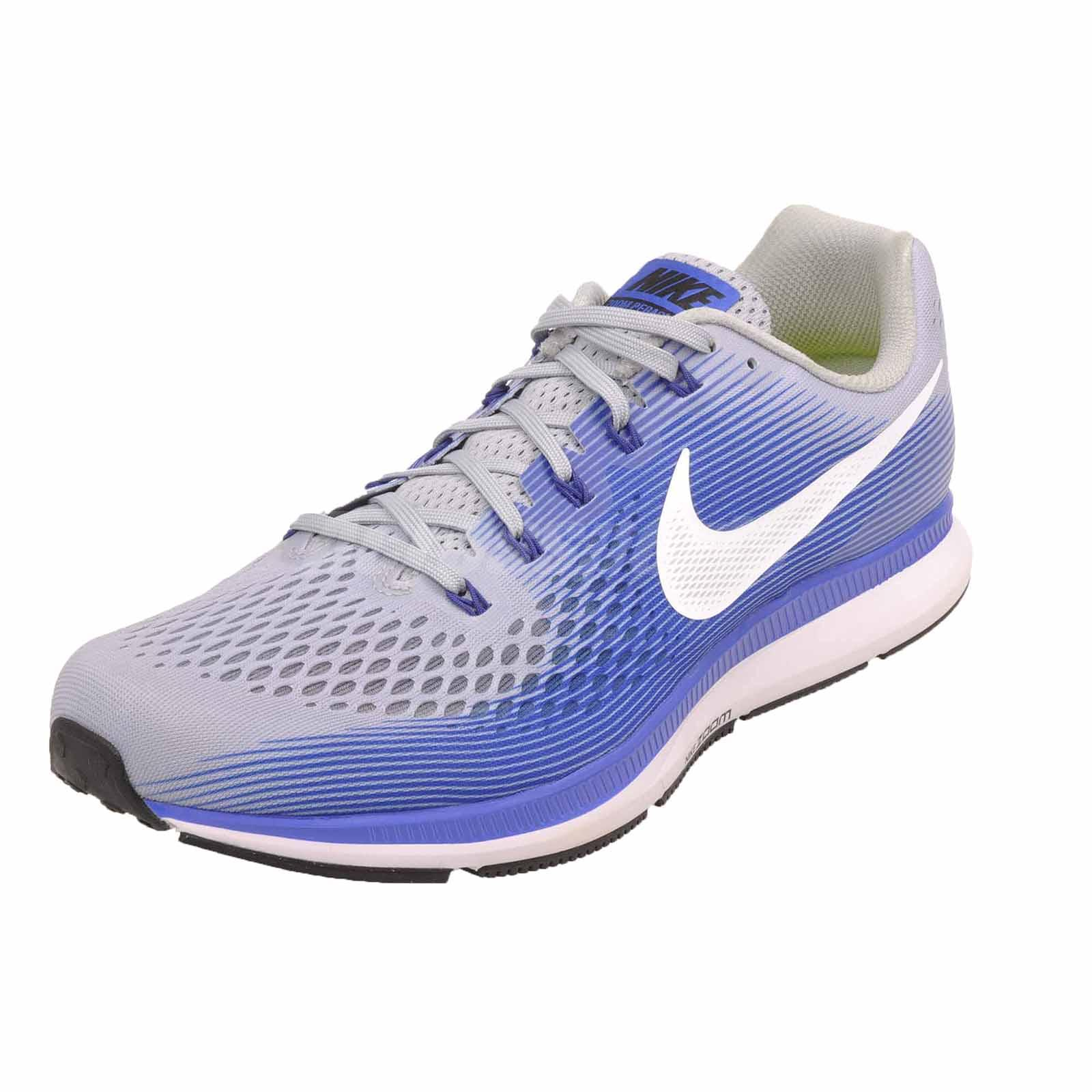 5edd5fa258964 Nike Air Zoom Pegasus 34 (4E) Running Shoes Mens Wide Grey Blue ...