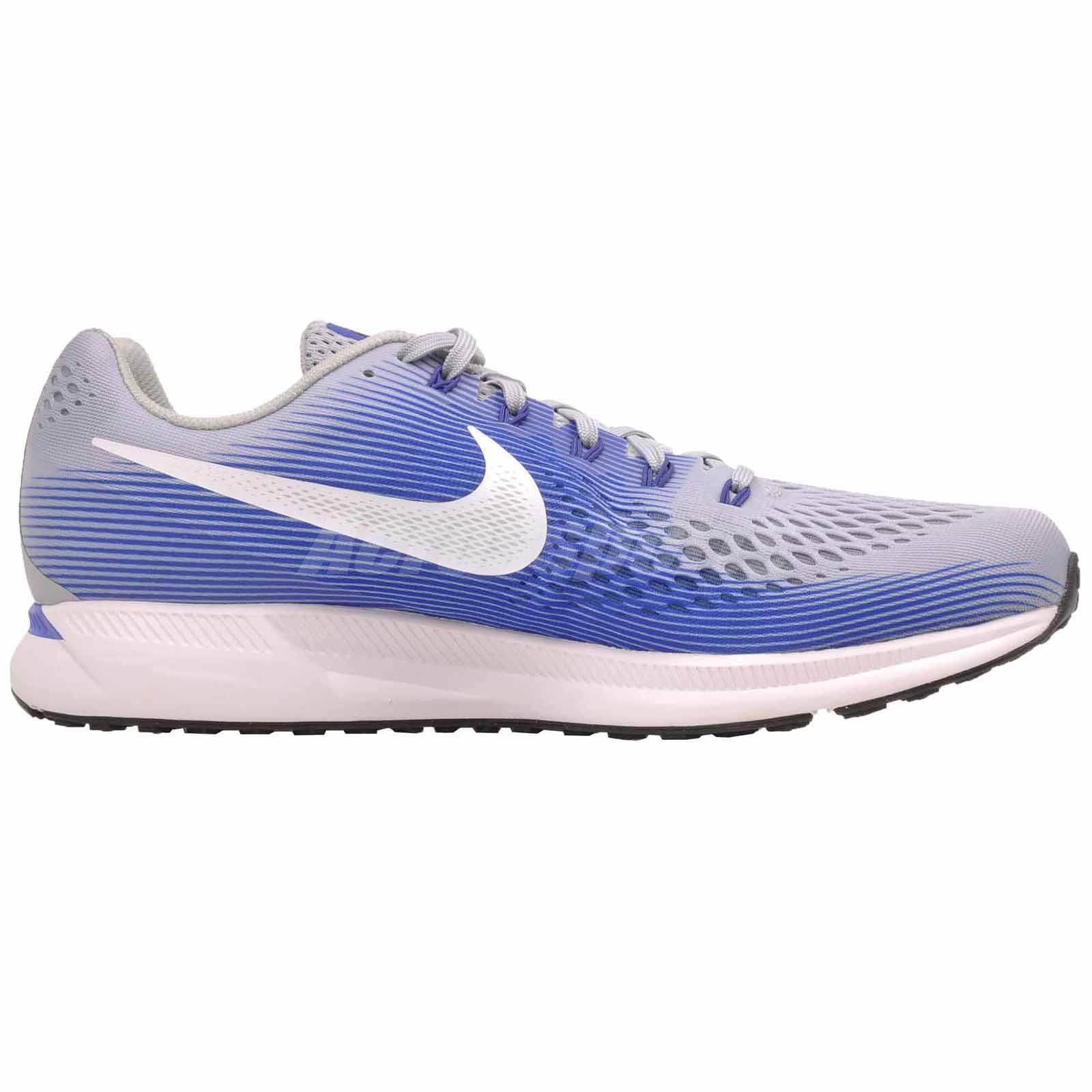 609ba1c7f2 Nike Air Zoom Pegasus 34 (4E) Running Shoes Mens Wide Grey Blue ...