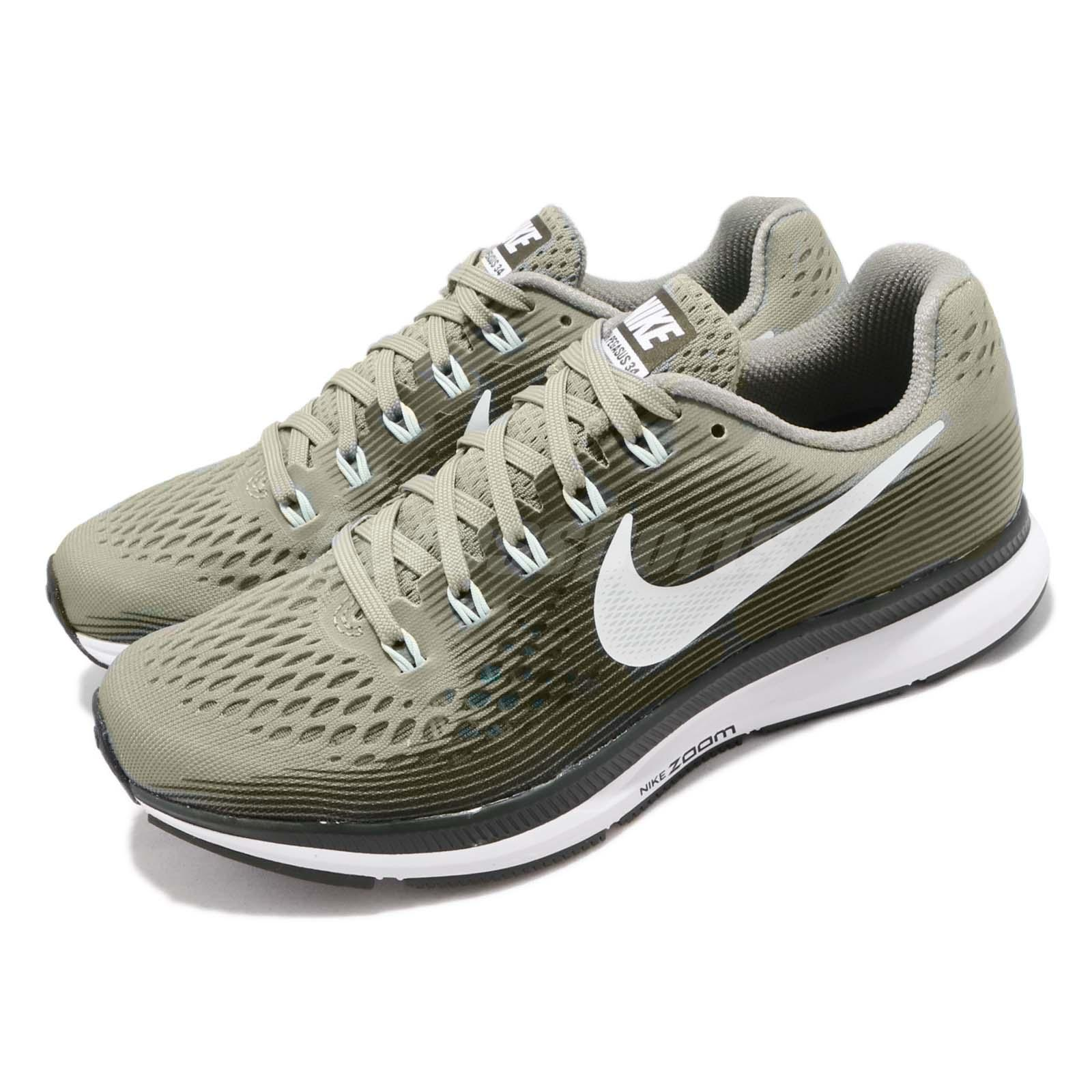 new concept e8b8a 7bcf5 Details about Nike Wmns Air Zoom Pegasus 34 Dark Stucco Green Women Running  Shoes 880560-007
