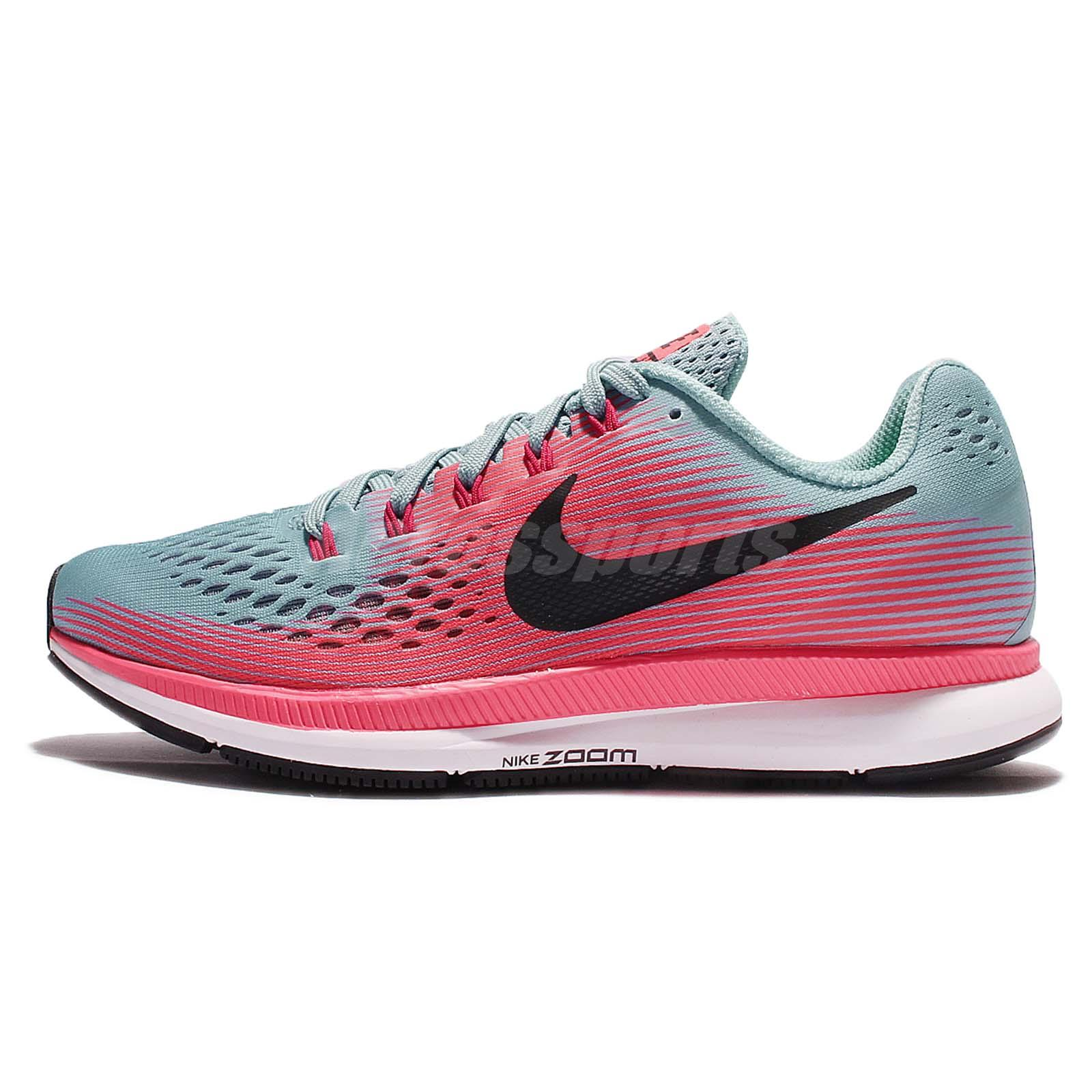 c53bcb54a97cf Wmns Nike Air Zoom Pegasus 34 Blue Pink Women Running Shoes Sneakers 880560- 406