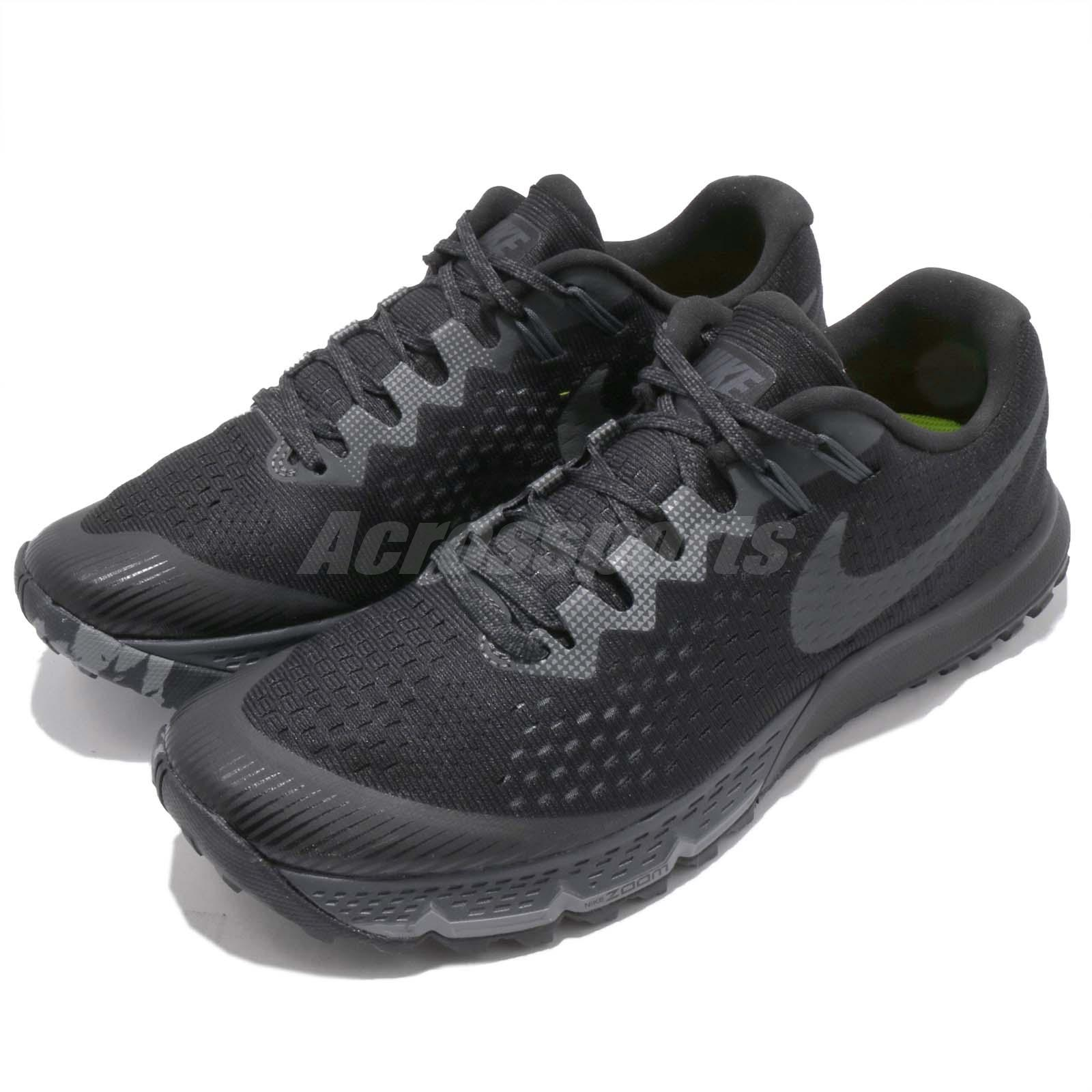 3dcf1269bb1a3 Details about Nike Air Zoom Terra Kiger 4 IV Black Men Trail Running Shoes  Sneakers 880563-010