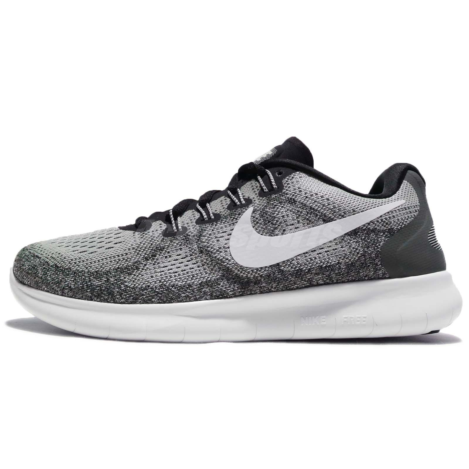 0fac1a6d9d828 Wmns Nike Free RN 2017 Run Grey White Women Running Shoes Sneakers 880840- 002