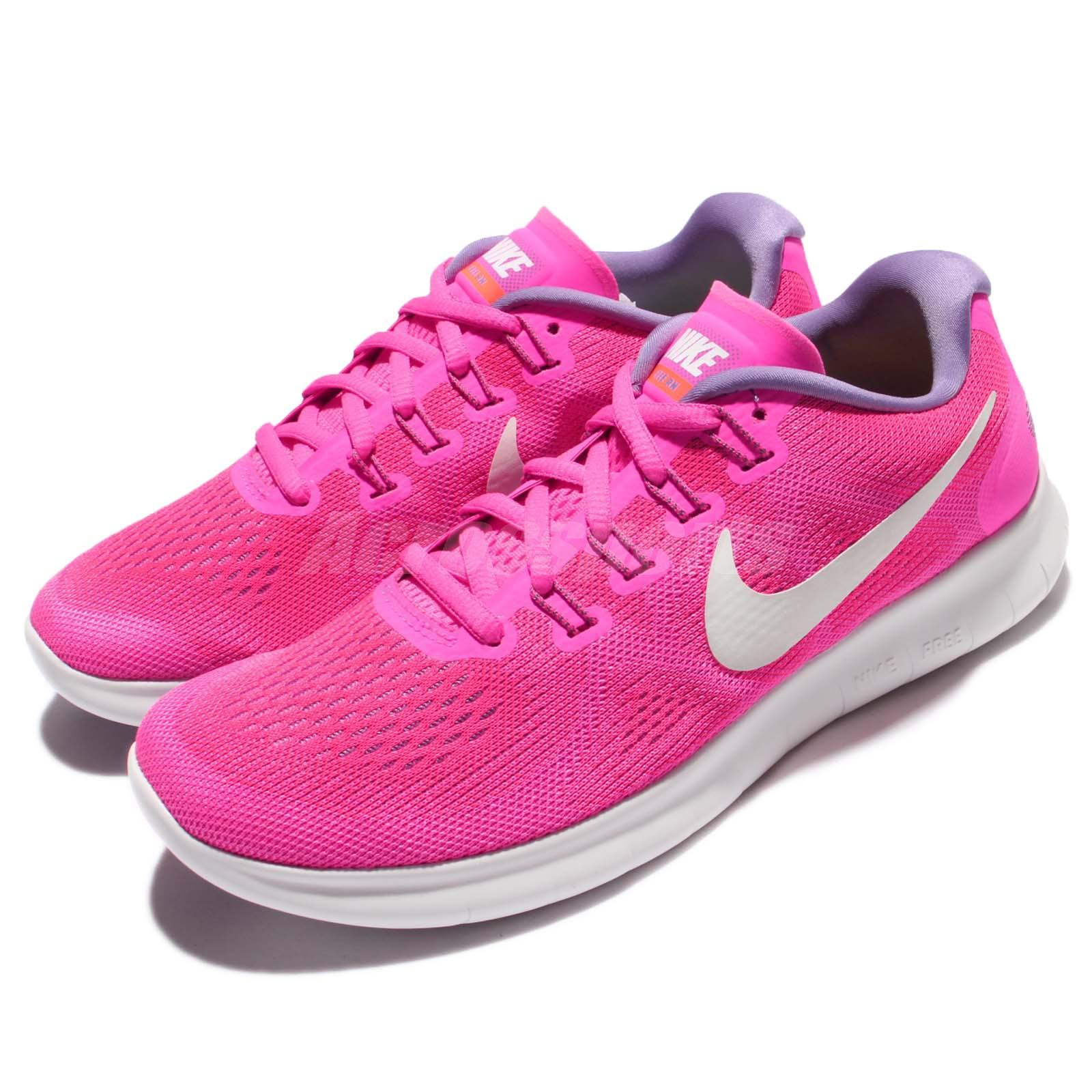 5027a425287f6c Details about Wmns Nike Free RN 2017 Pink White Women Running Shoes  Sneakers 880840-601
