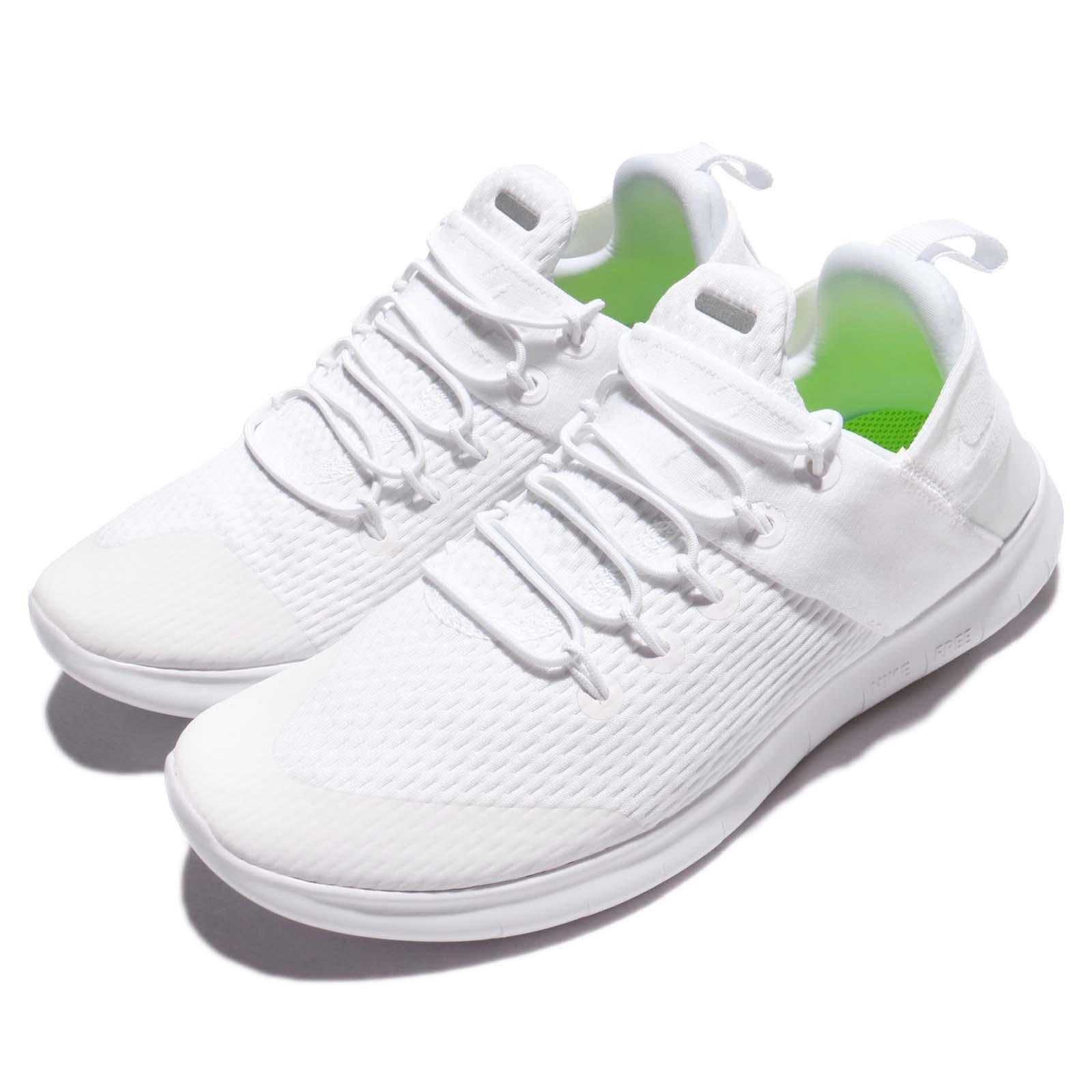 online retailer c5222 d8eec Details about Wmns Nike Free RN CMTR 2017 Triple White Women Running Shoes  Sneakers 880842-100