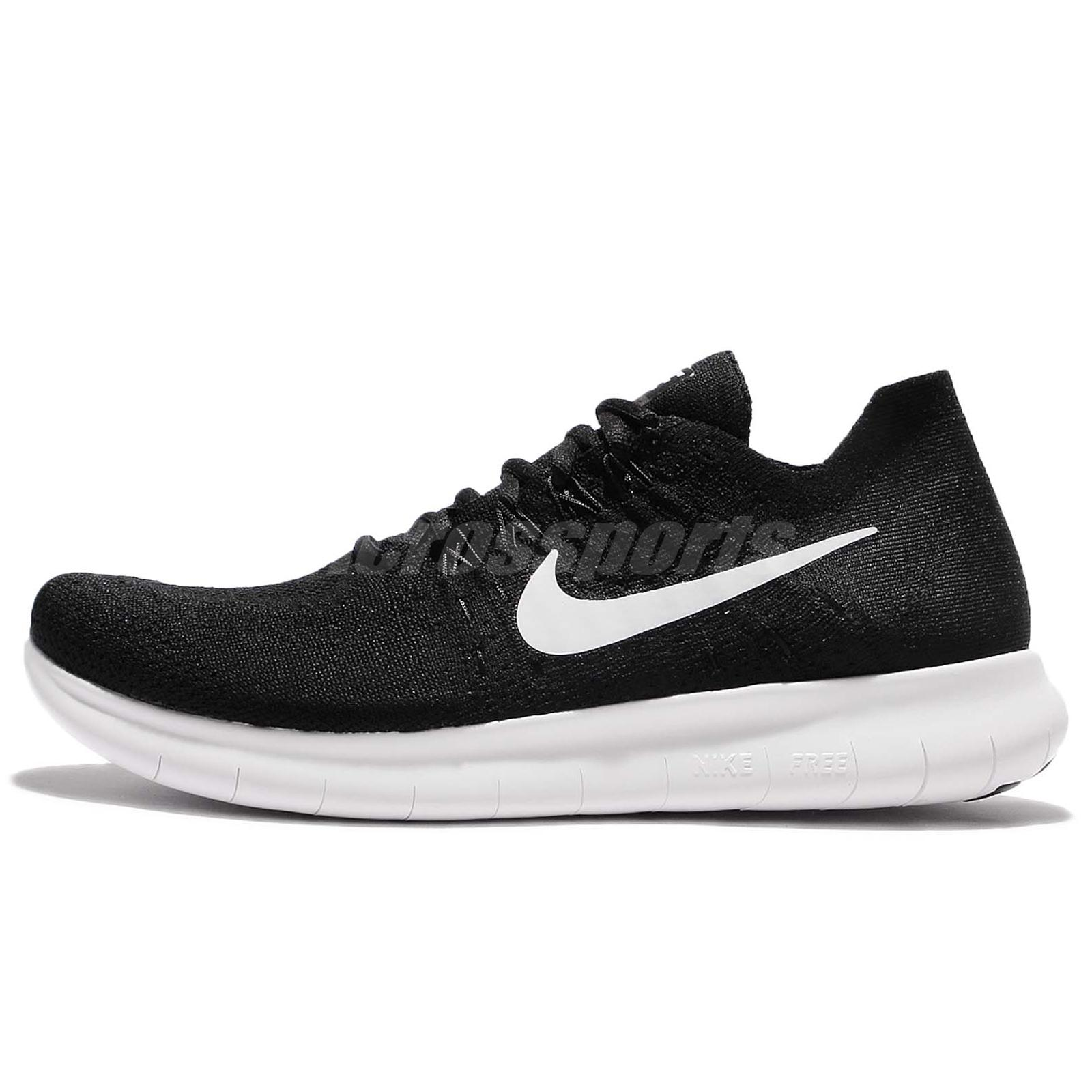 e50afc8cc8eb Nike Free RN Flyknit 2017 Run Black White Men Running Shoes 880843 ...