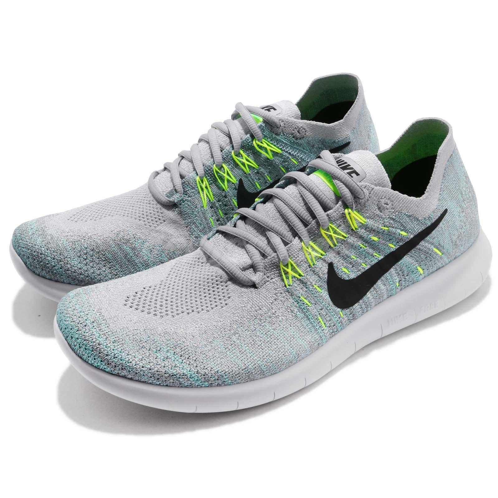 8e6568ee0803 Details about Nike Free RN Flyknit 2017 White Black Blue Men Running Shoes  Sneakers 880843-014