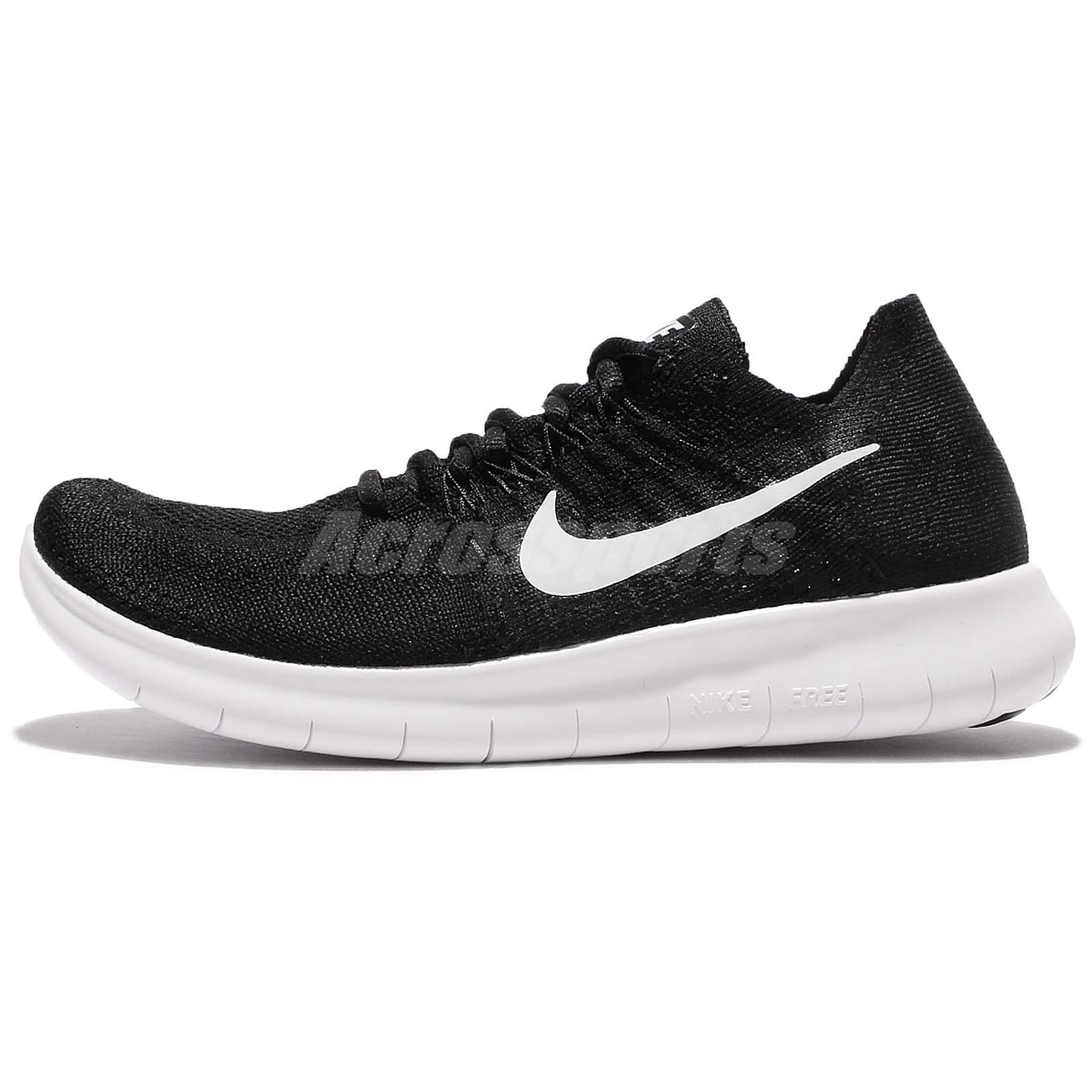 49c3182ec234 Wmns Nike Free RN Flyknit 2017 Run Black White Women Running Shoes  880844-001