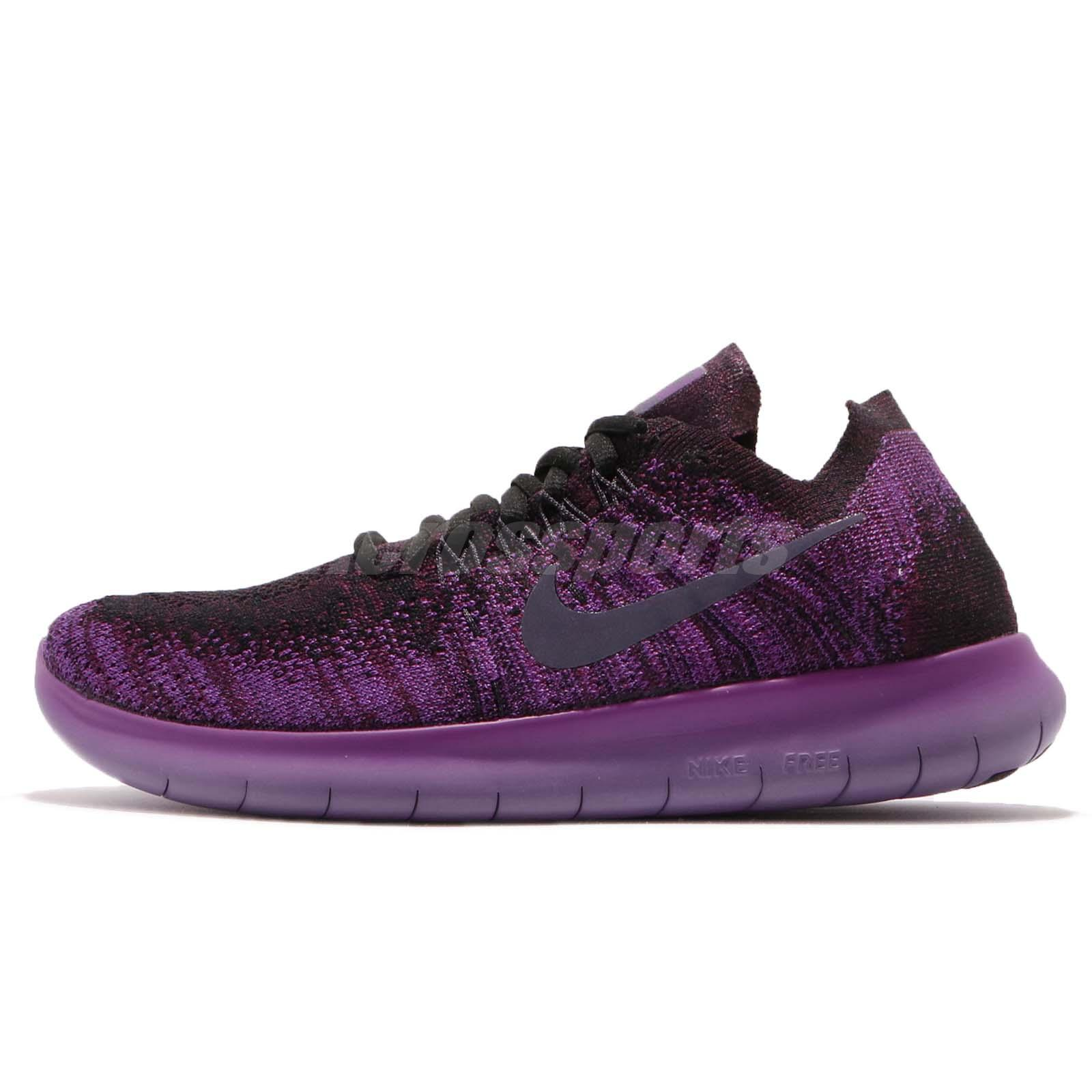 huge selection of 224a5 0c3e2 ... where can i buy nike wmns free rn flyknit 2017 purple black reflective  running shoes 880844