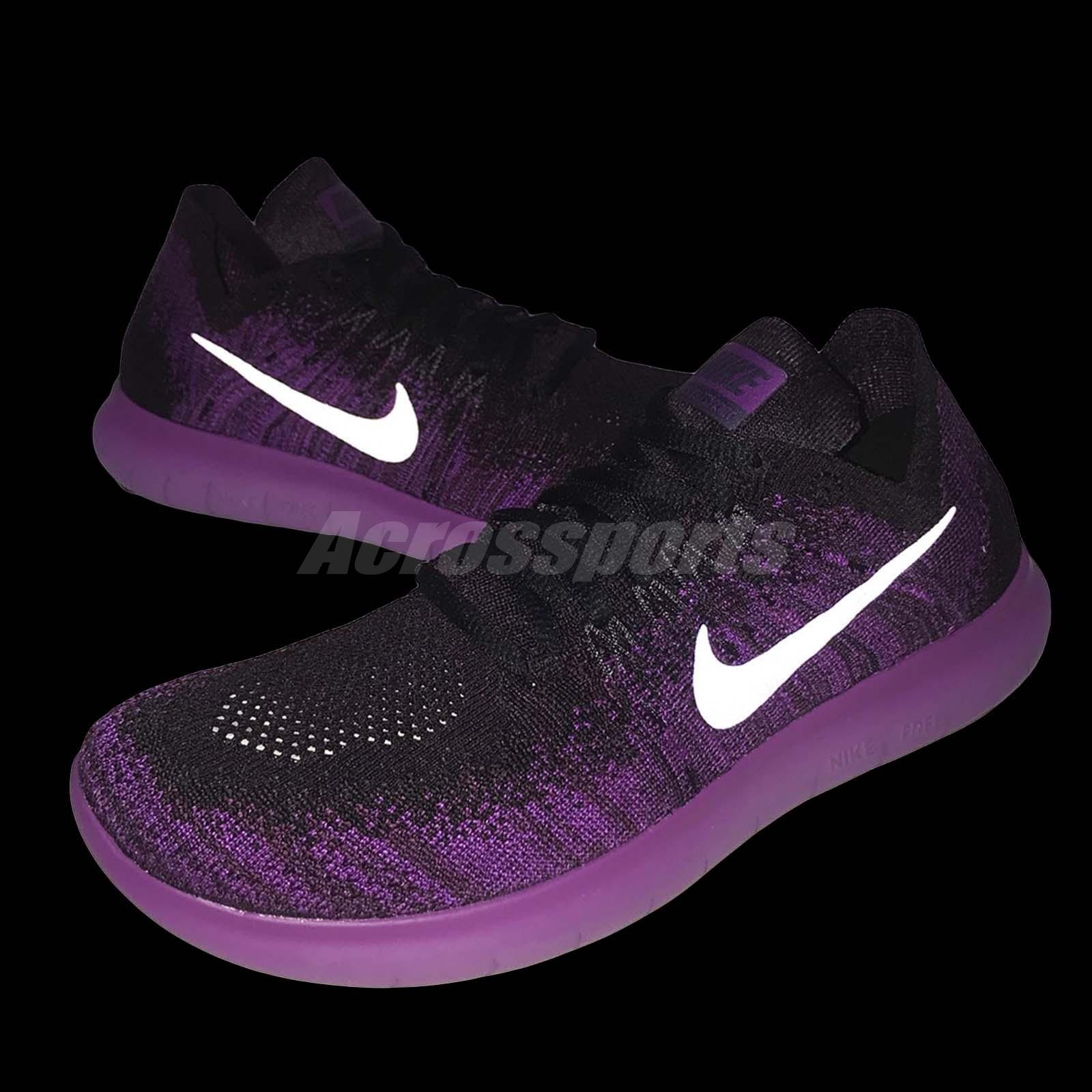 wholesale dealer 49855 cdeaf ... amazon nike wmns free rn flyknit 2017 purple black reflective running  shoes b4083 979b4