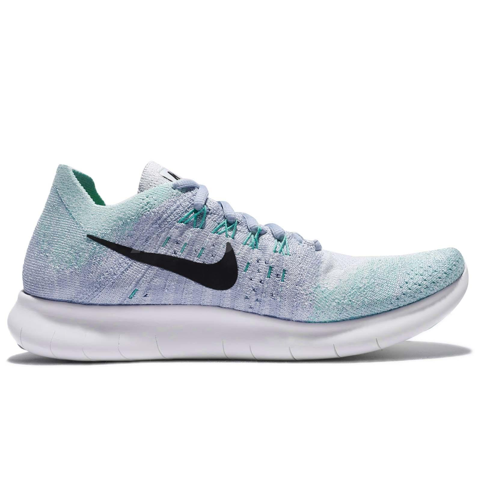 competitive price 64567 4f171 Details about Wmns Nike Free Rn Flyknit 2017 Run Blue Tint Black Women  Running Shoe 880844-402