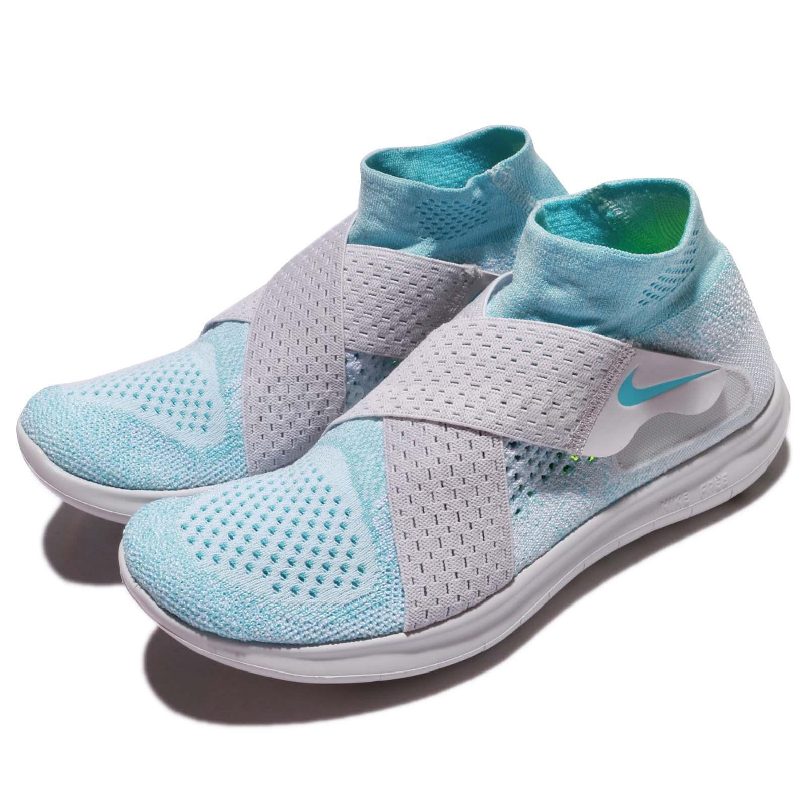 00369d35228 Details about Wmns Nike Free RN Motion FK 2017 Flyknit Glacier Blue Women  Running 880846-402