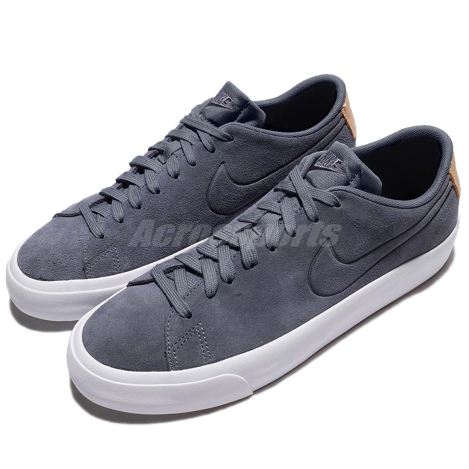 size 40 a826a f1461 Details about Nike Blazer Studio Low Grey White Suede Men Casual Shoes  Sneakers 880872-401