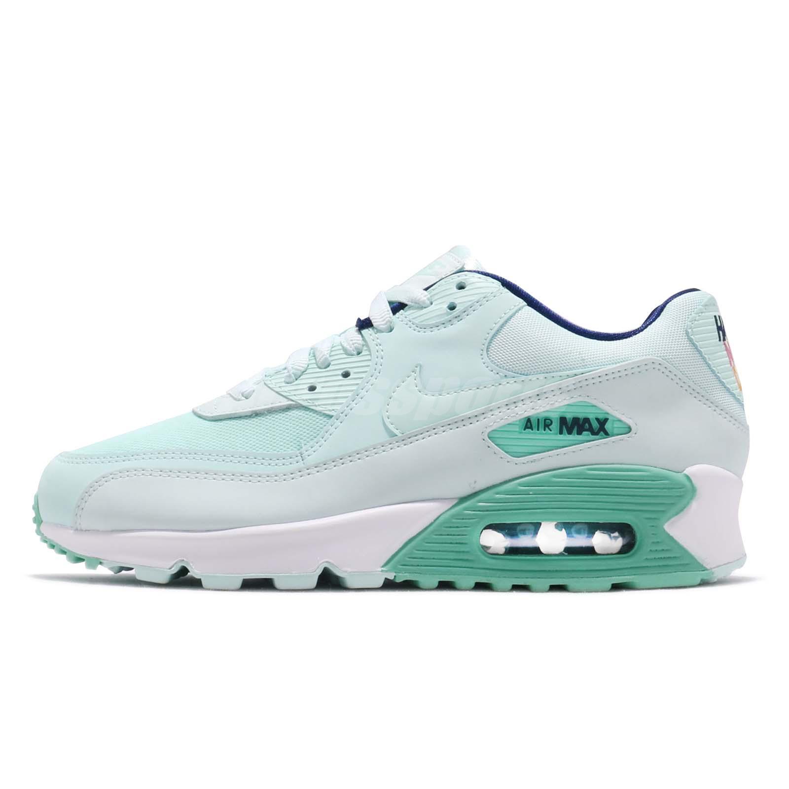 Detalles acerca de Nike Wmns Air Max 90 se Verde Azulado Tinte Verde Blanco Mujeres Tenis para Correr 881105 301 mostrar título original
