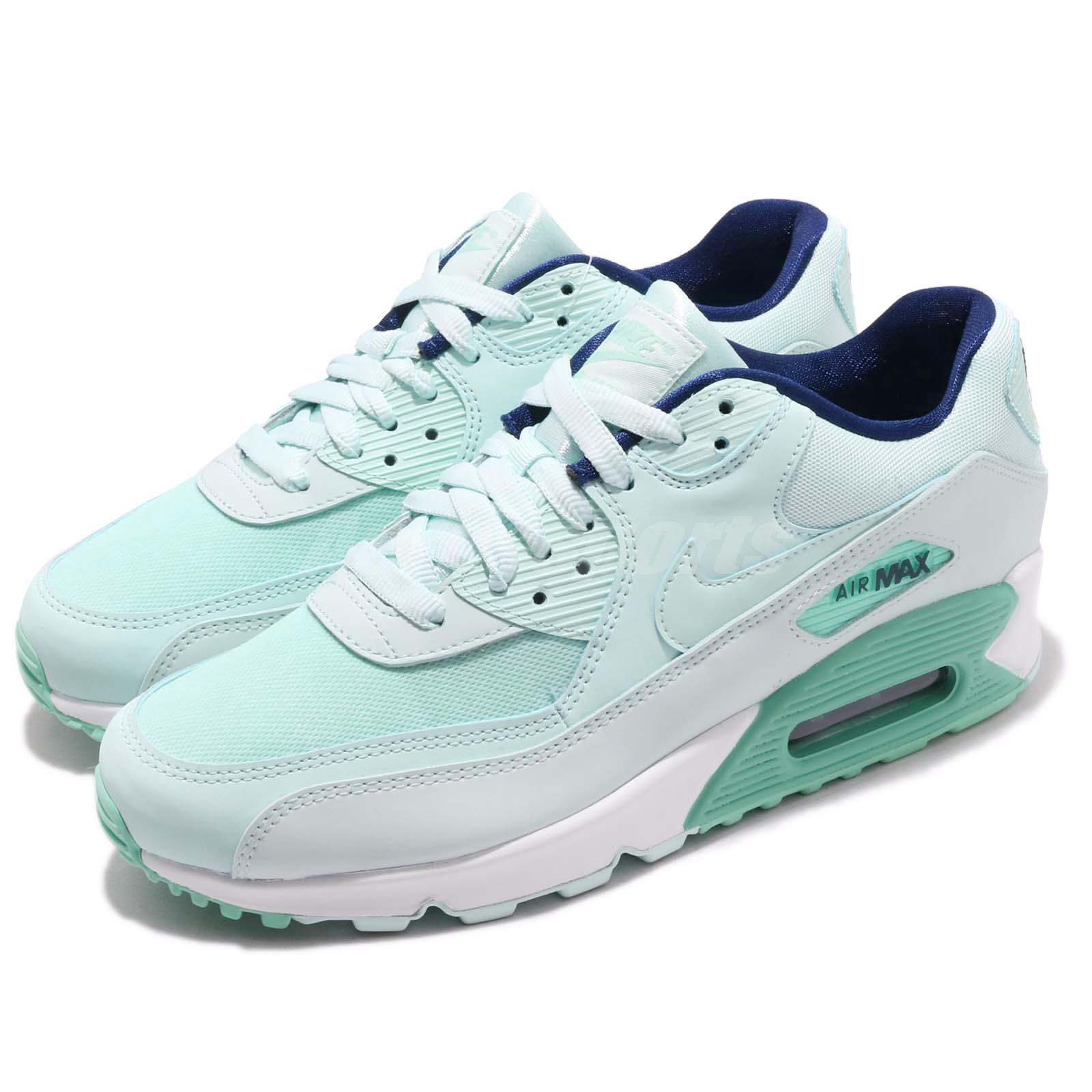 a126aadf36 Details about Nike Wmns Air Max 90 SE Teal Tint Green White Womens Running  Shoes 881105-301