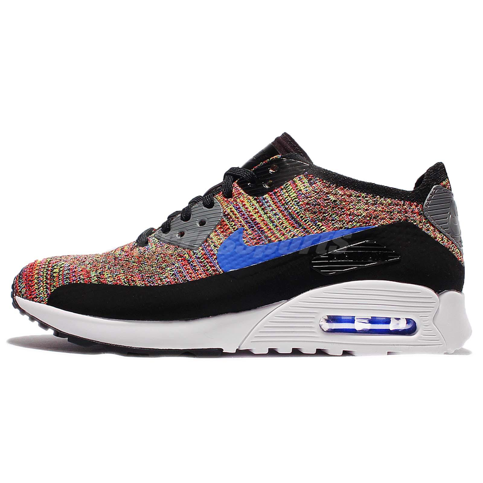 6b7ede52a05c Wmns Nike Air Max 90 Ultra 2.0 Flyknit Multi-Color Rainbow Women Shoe  881109-001