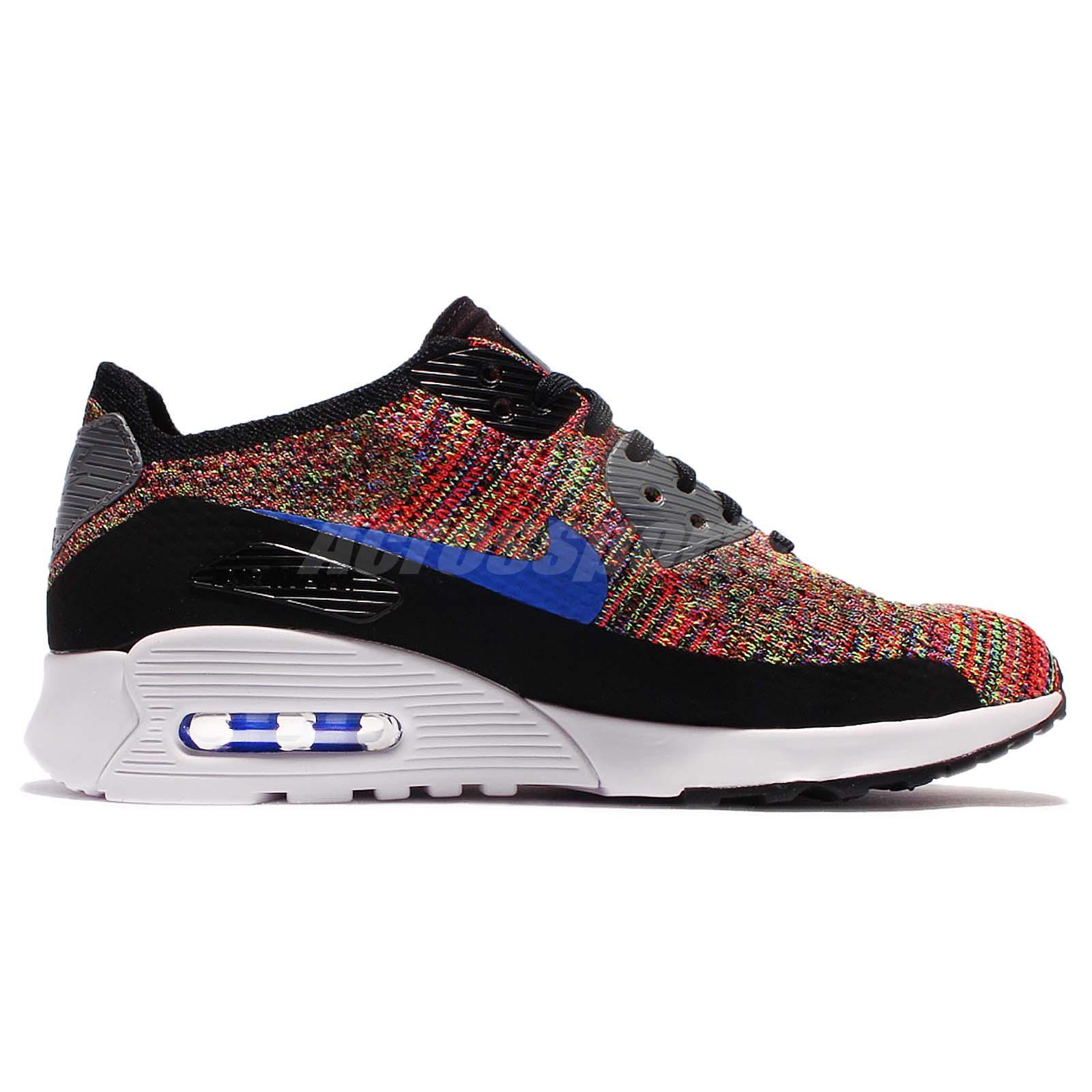 cheap for discount 47ded d2885 Detalles acerca de Wmns Nike Air Max 90 Ultra 2.0 Flyknit Multi Color Arco  Iris Zapato de mujer 881109-001- mostrar título original
