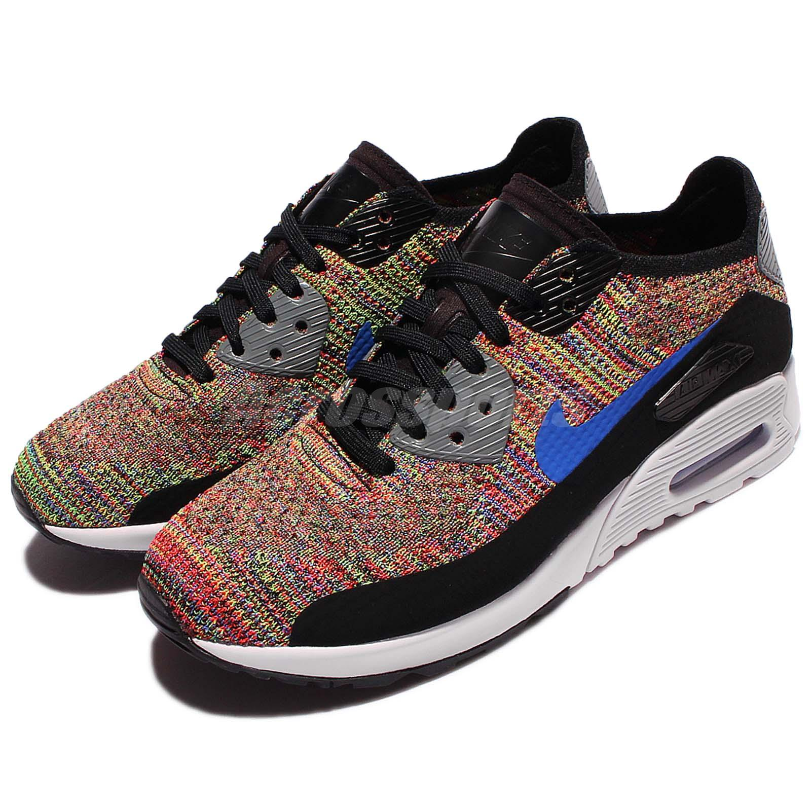 728e448cb16 Details about Wmns Nike Air Max 90 Ultra 2.0 Flyknit Multi-Color Rainbow  Women Shoe 881109-001