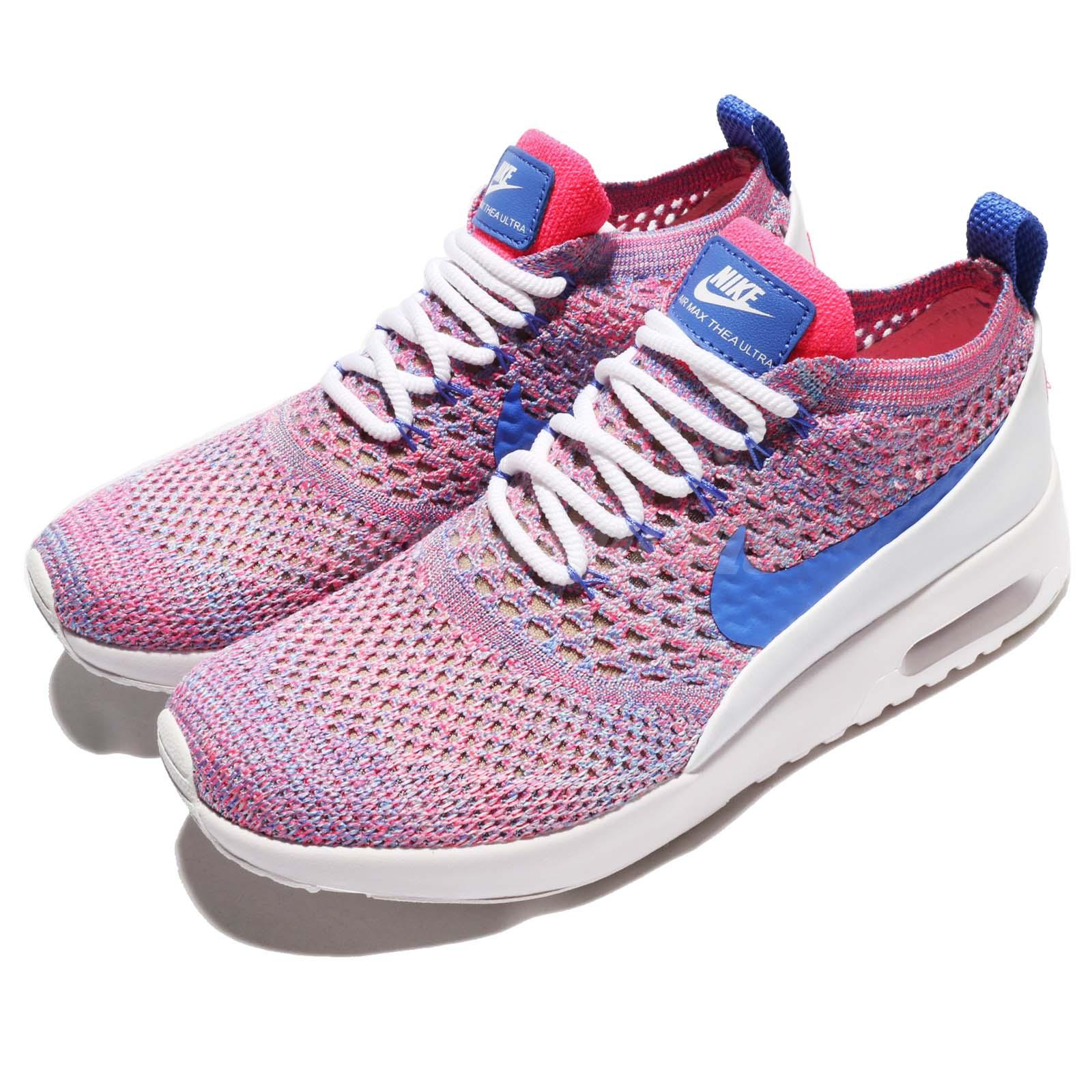 ce43bab65f9a Details about Nike Wmns Air Max Thea Ultra FK Flyknit Pink Blue Women  Running Shoes 881175-100