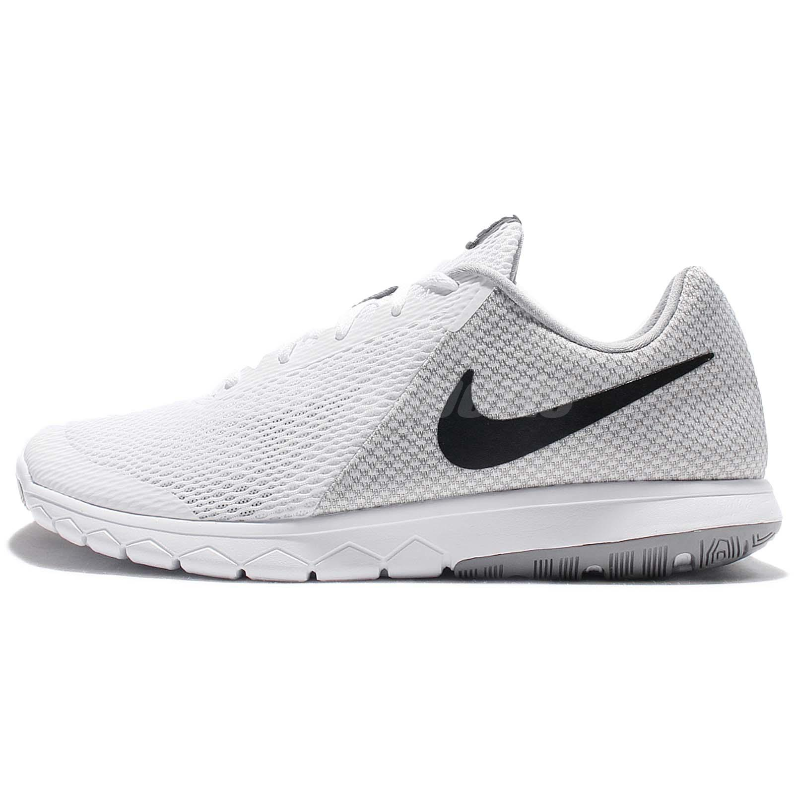 Nike Flex Experience RN 6 VI White Black Men Running Shoes Sneakers  881802-100