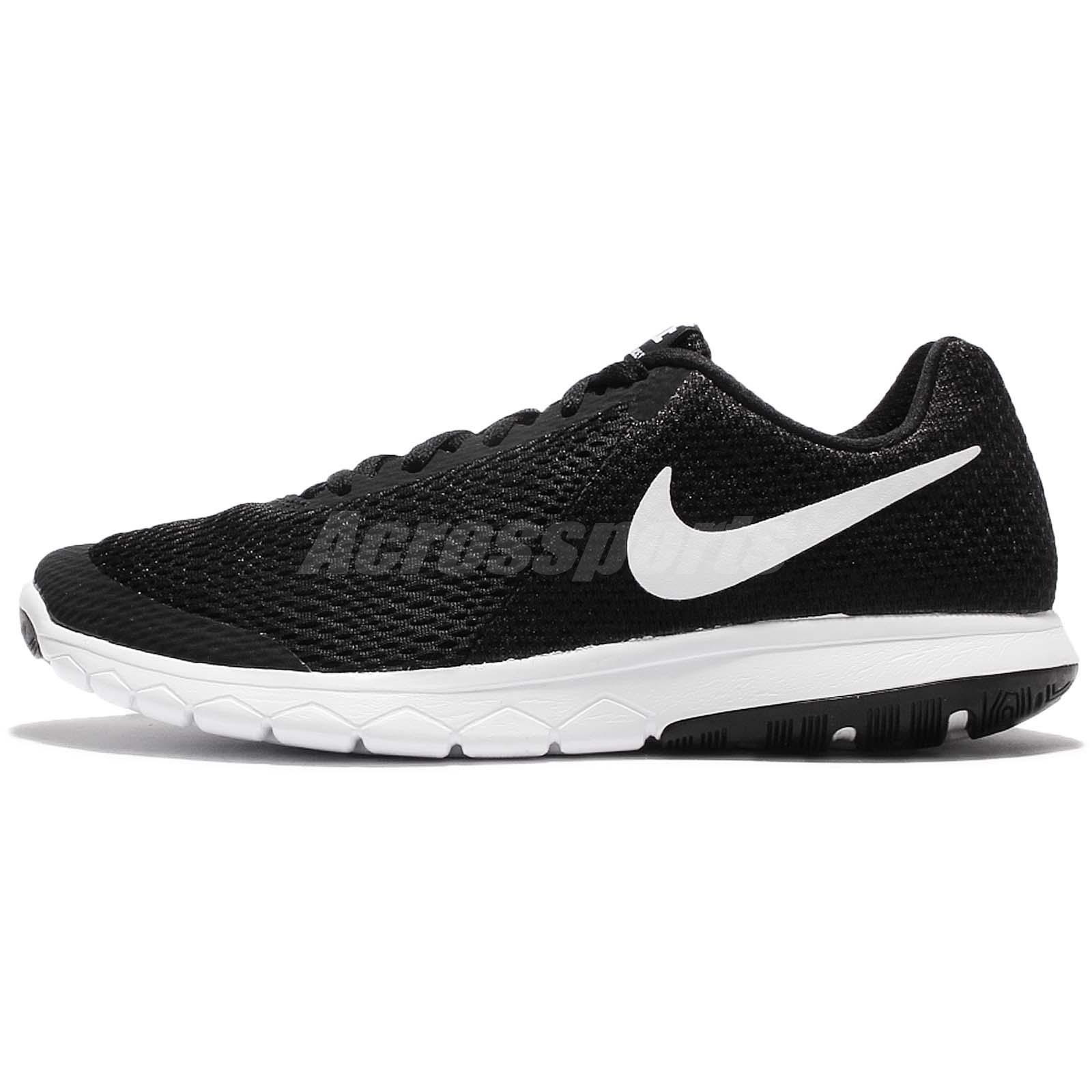Nike Womens Flex Experience RN 6 Low Top Lace Up Black/Whitewhite Size 9.0