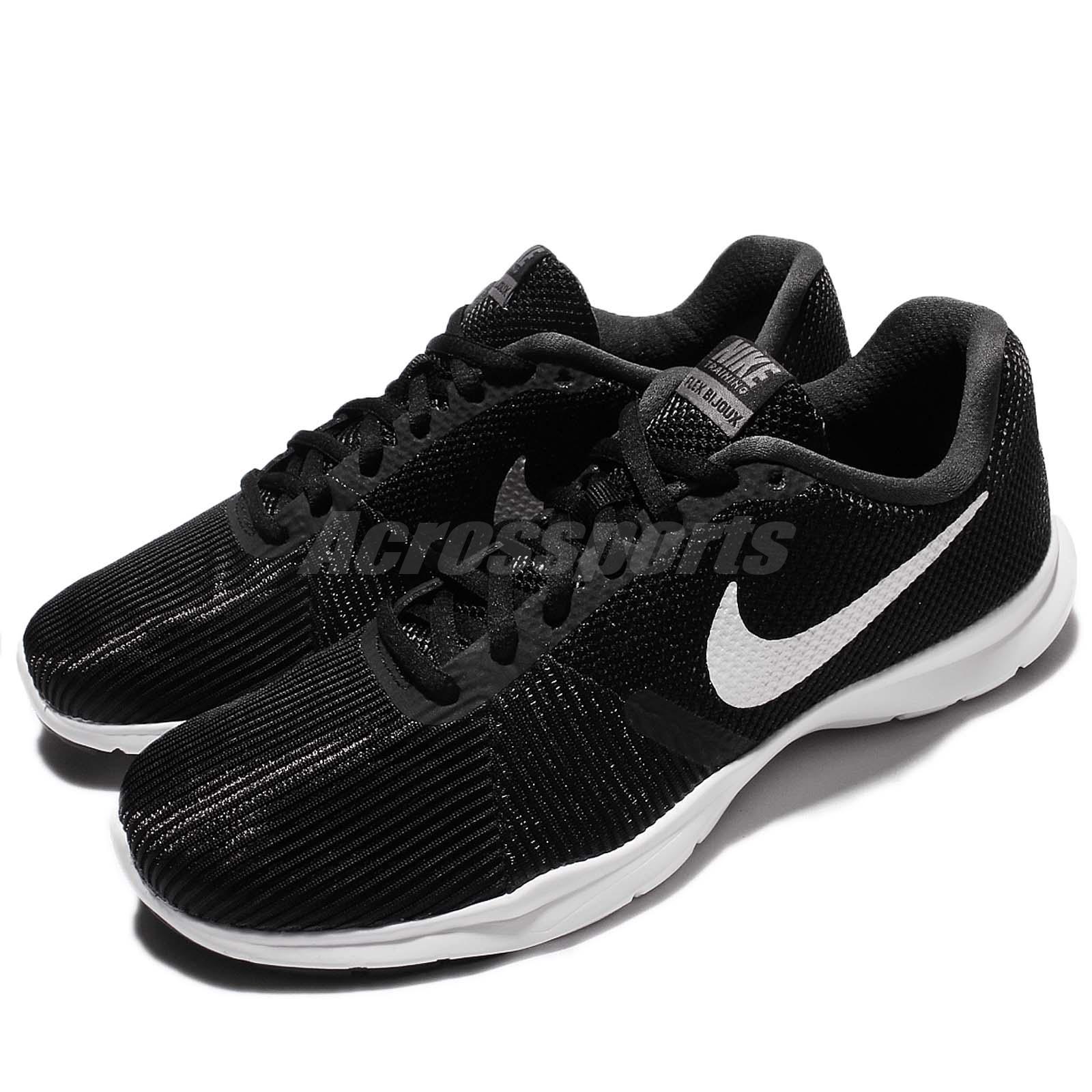 661a730917c04 Details about Nike Wmns Flex Bijoux Black White Women Cross Training Shoes  Sneakers 881863-001