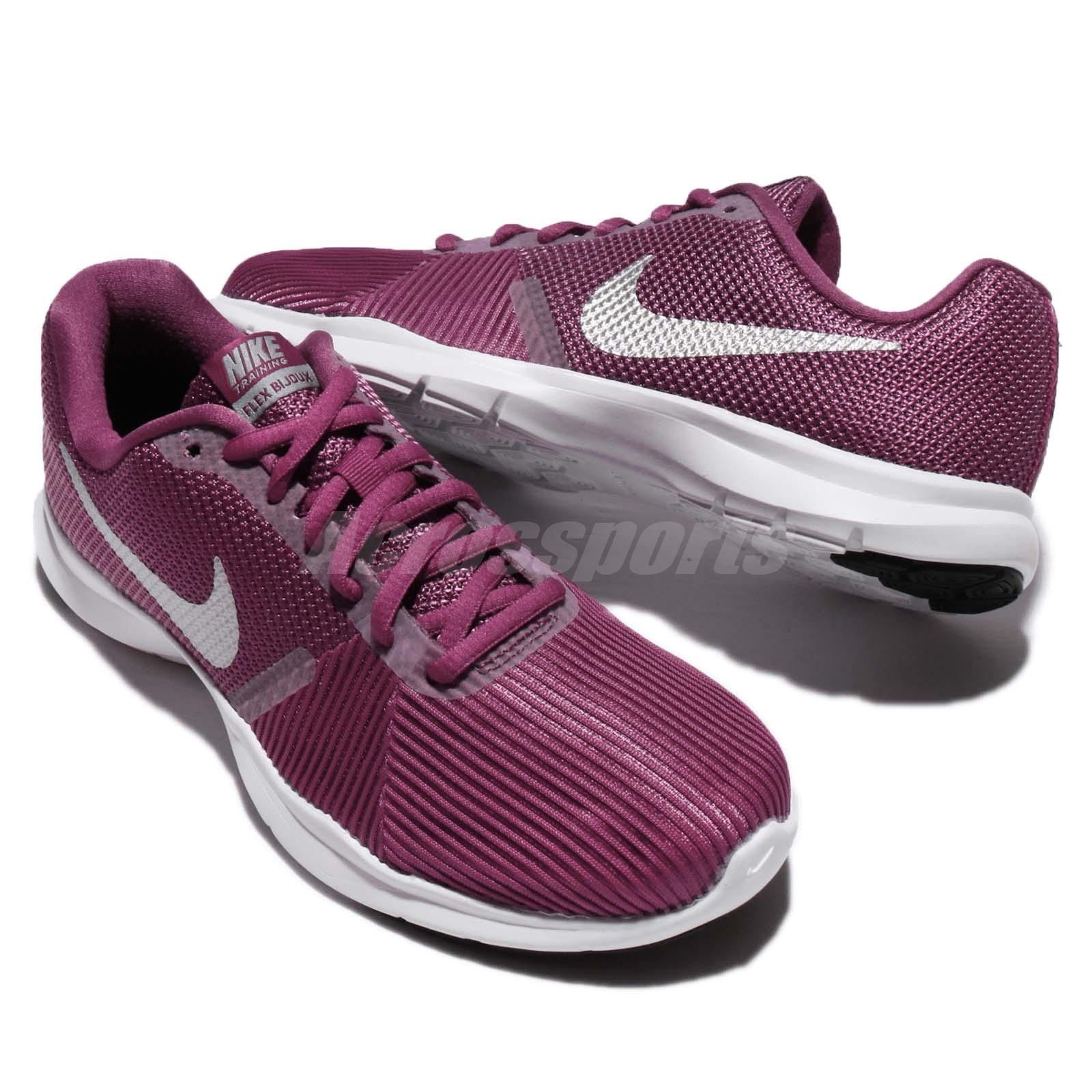 Nike Wmns Flex Bijoux Tea Berry Metallic Silver Women Training Shoes ... d85373f4c10
