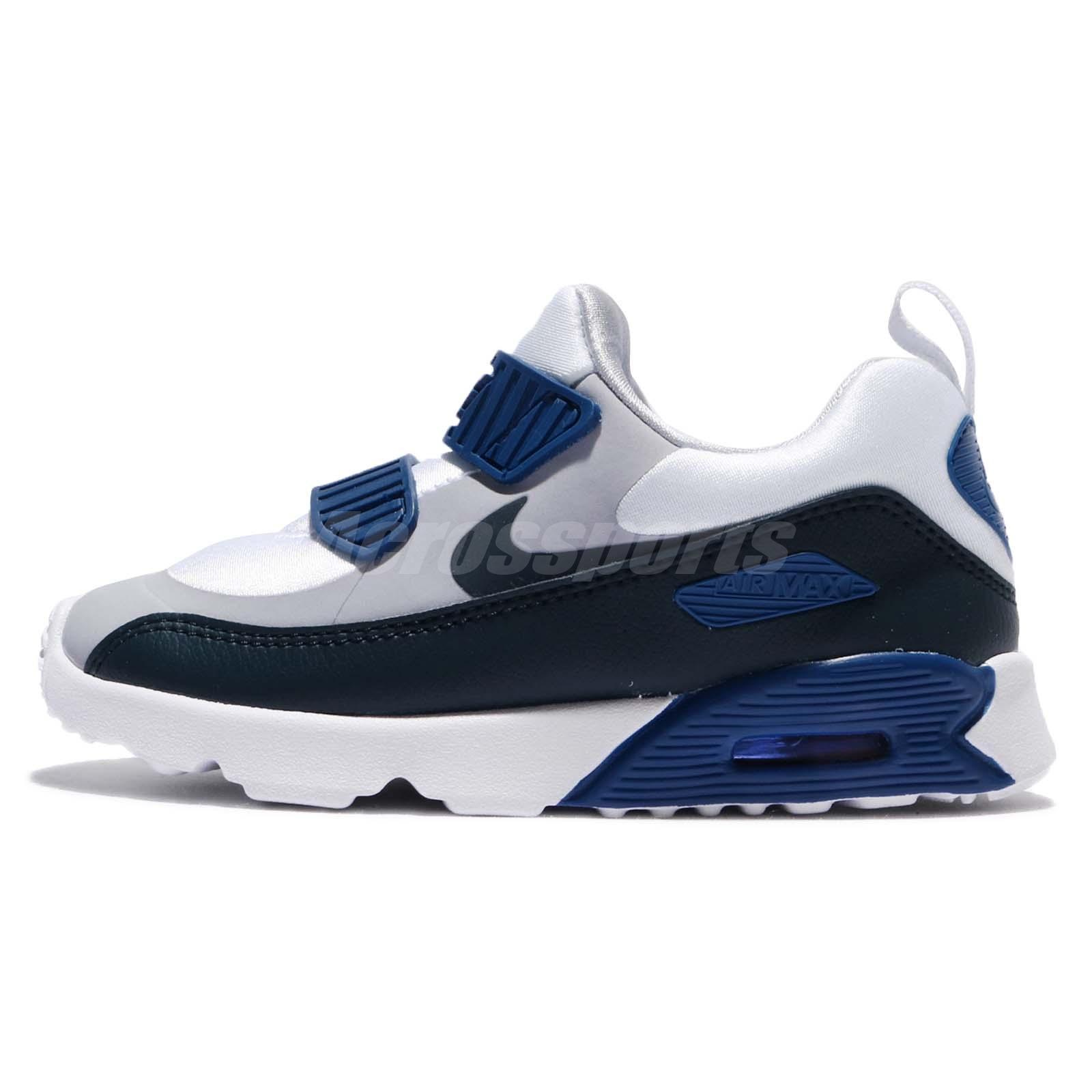 Nike Nike Air Max Tiny 90 TD OG Wolf Grey Navy Toddler Infant Shoes