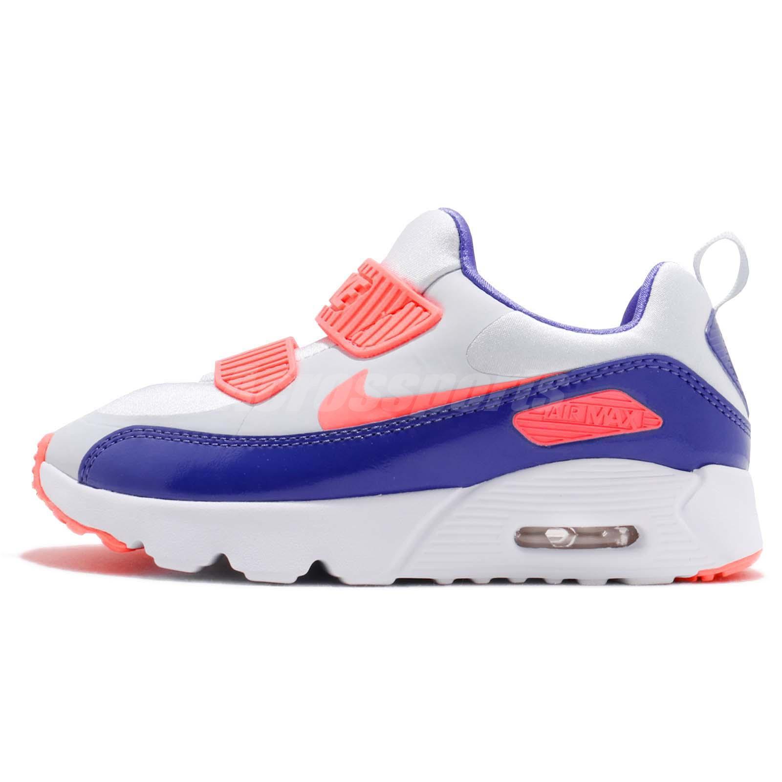 new product 7e3a3 139b6 Nike Air Max Tiny 90 PS Pure Platinum Lava Glow Kid Preschool Shoes  881926-005