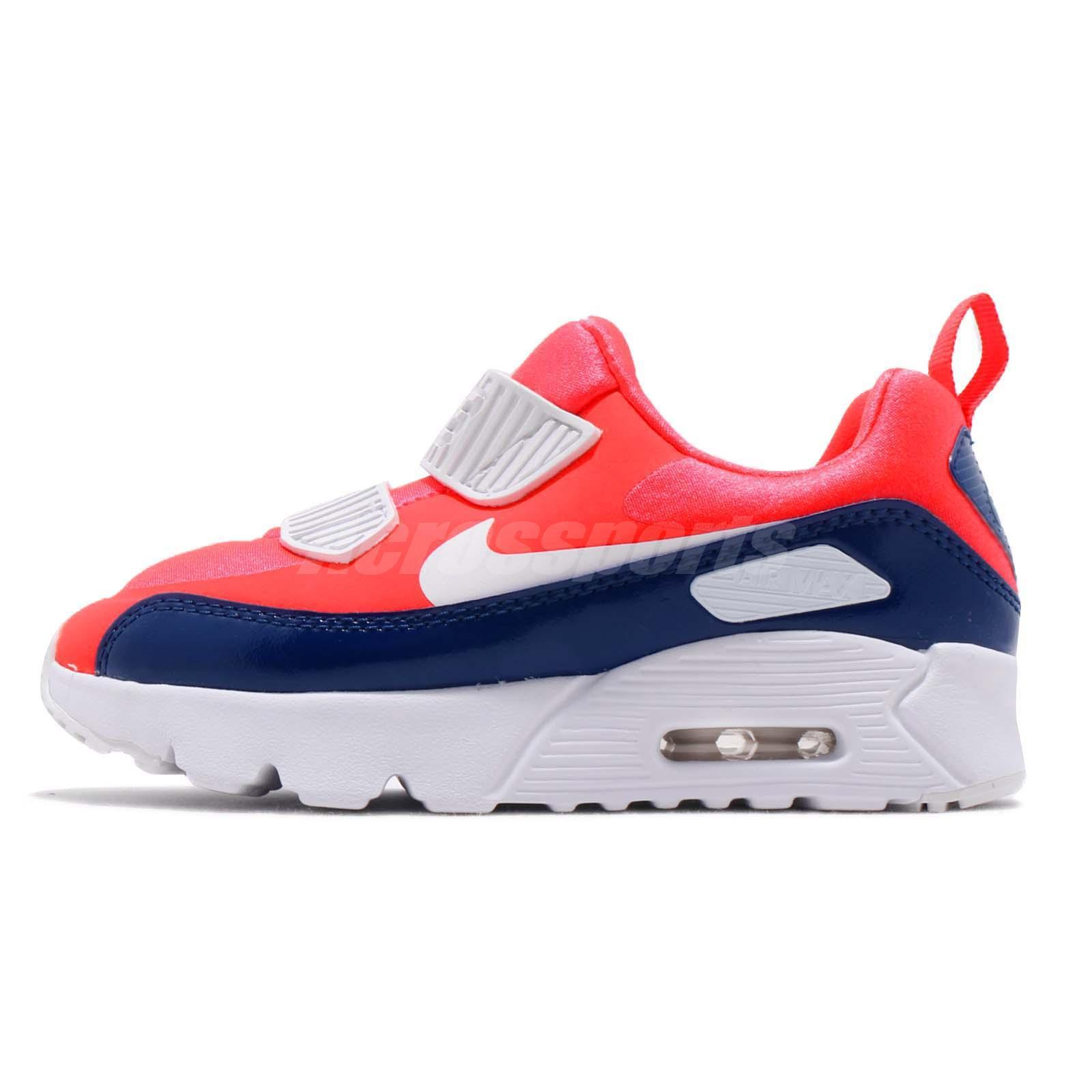 best service d3dc8 f0e8a Nike Air Max Tiny 90 PS Bright Crimson Kid Preschool Slip On Shoes 881927- 604