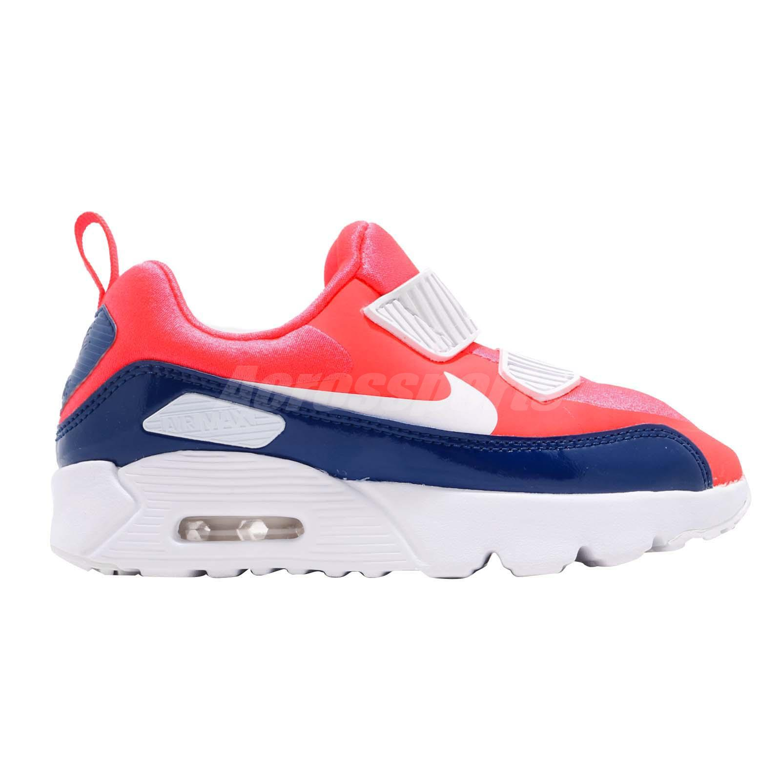 low priced 63466 a6afd Nike Air Max Tiny 90 PS Bright Crimson Kid Preschool Slip On Shoes ...