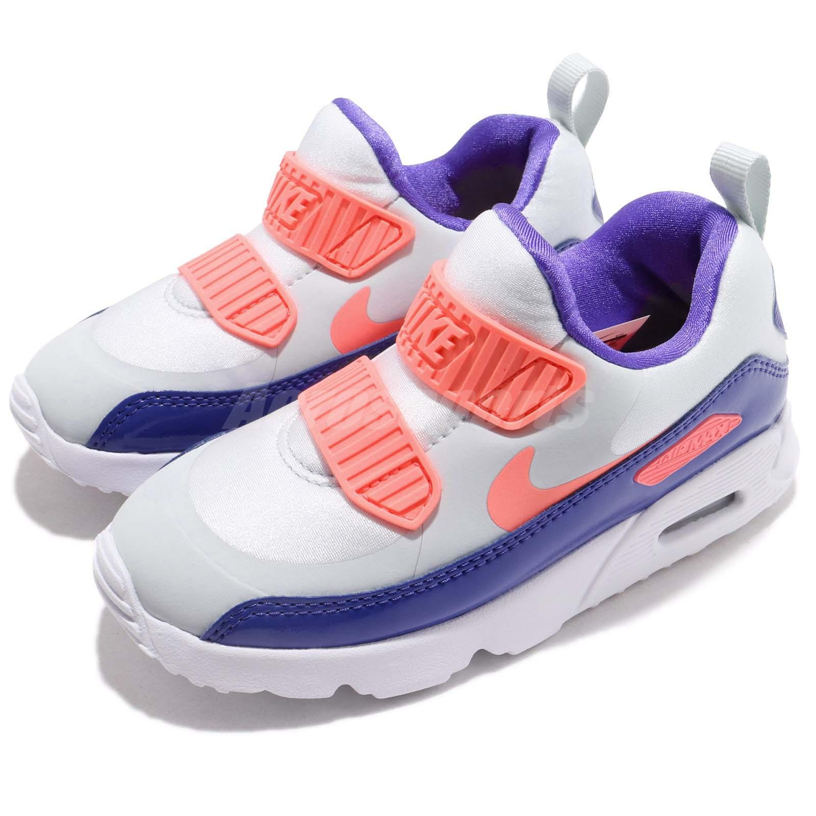 big sale aa618 ef578 Details about Nike Air Max Tiny 90 TD Pure Platinum Lava Glow Toddler  Infant Shoes 881928-005