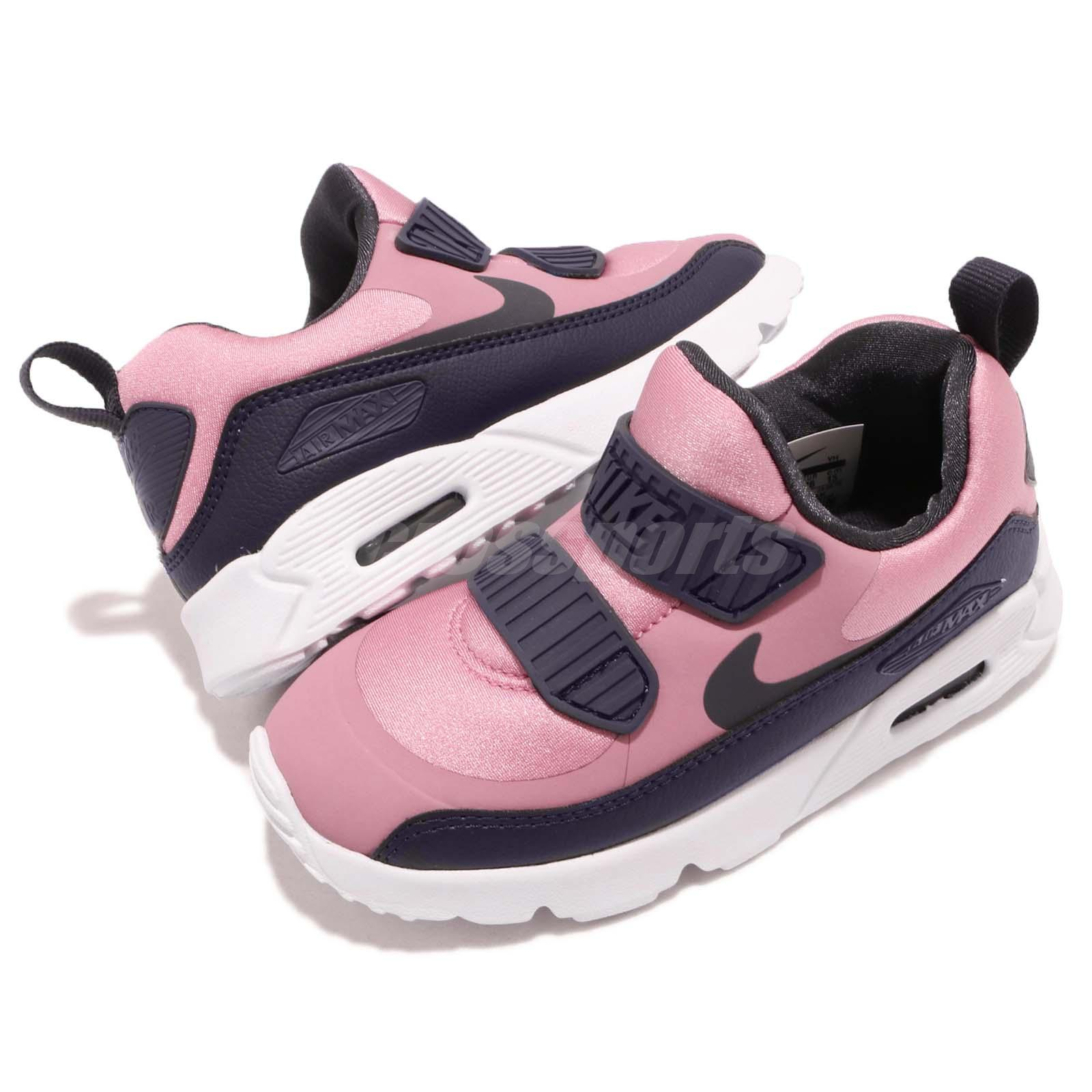 726647fcc2a9 Details about Nike Air Max Tiny 90 TD Pink Gridiron White Toddler Infant  Baby Shoes 881928-602