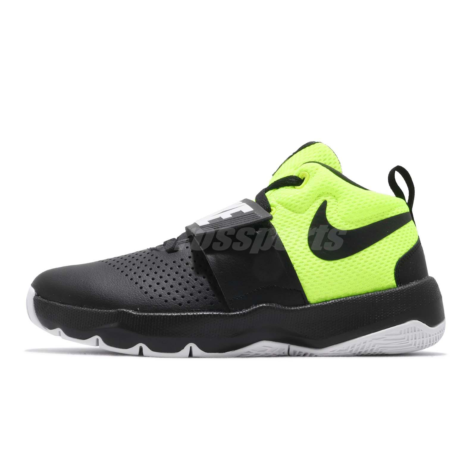 premium selection 926c5 f3514 Nike Team Hustle D 8 GS Black Volt Kid Youth Women Basketball Shoes  881941-014