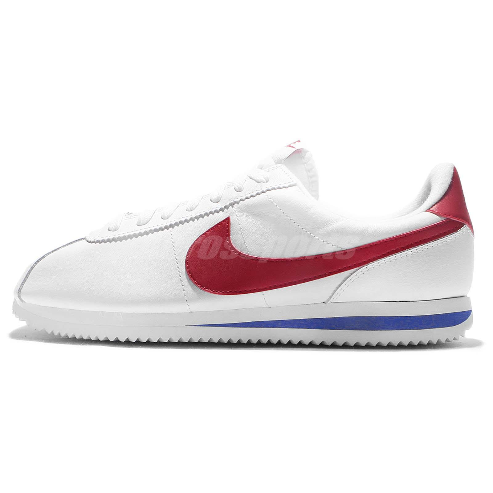 4afb6435fbcf62 ... get nike cortez basic leather og forrest gump white red blue men  classic 882254 164 90319