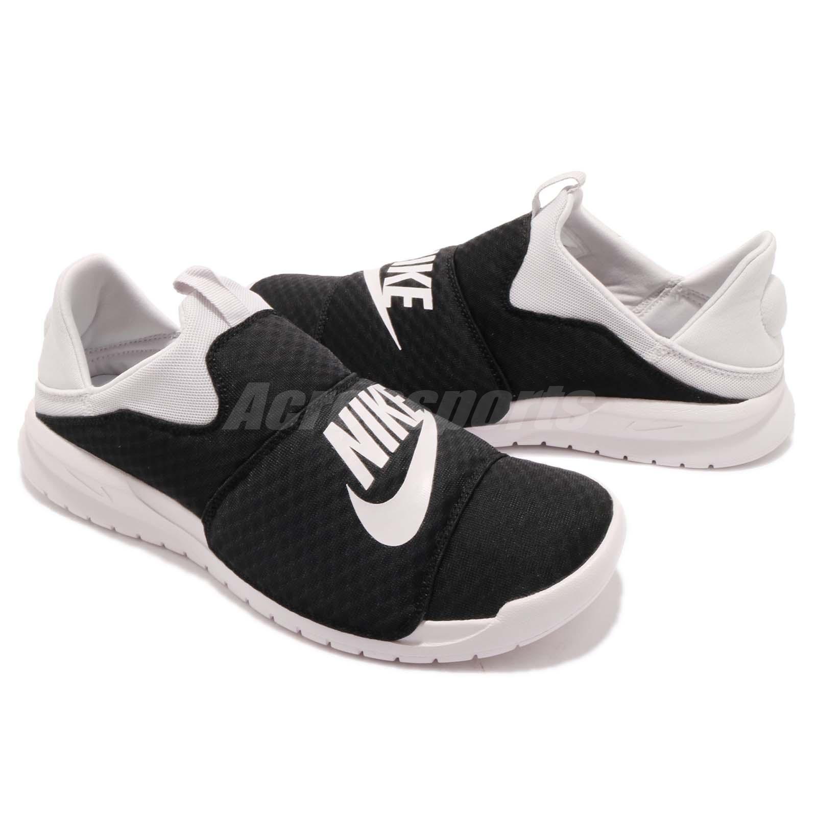 16c85ef78 Nike Benassi SLP Slip On Black Vast Grey Men Women Shoes Sneakers ...