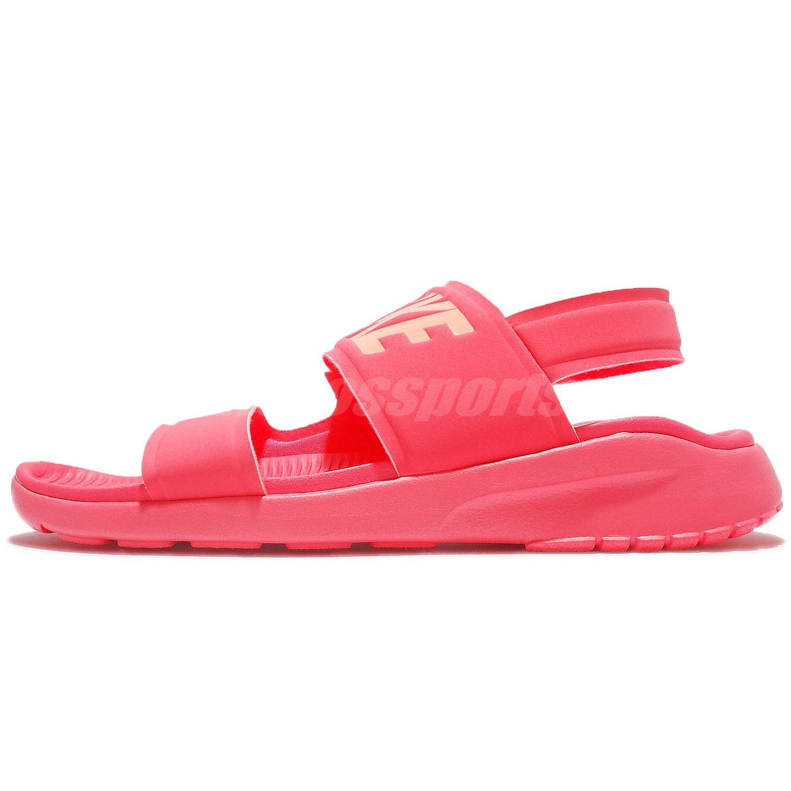 Nike Wmns Tanjun Sandal Racer Pink Women Slip On Shoes Flip Flops 882694-600 894595f2f