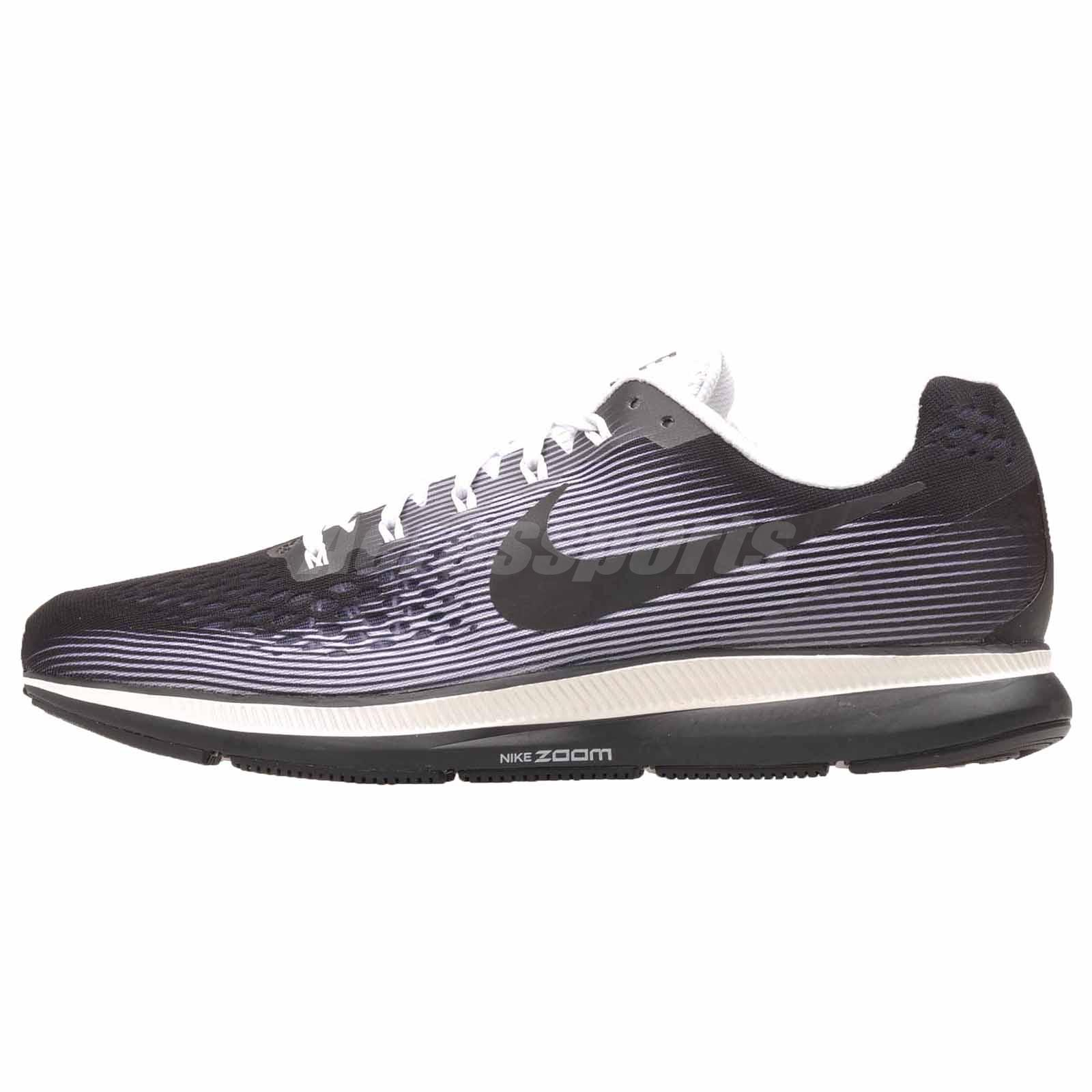67872ae40b2ed Details about Nike Air Zoom Pegasus 34 LE Running Mens Shoes Black White  NWOB 883268-001
