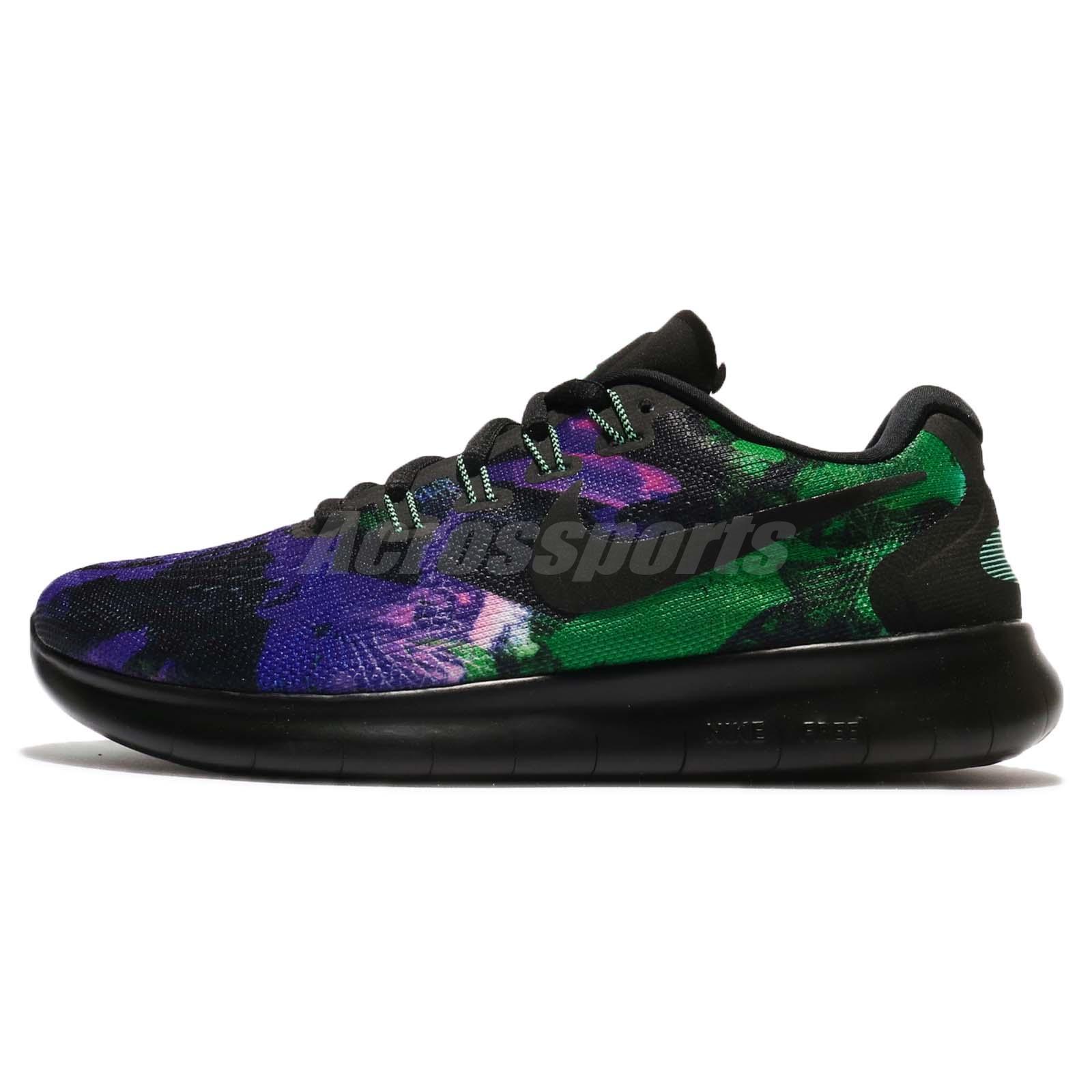 Wmns Nike Free RN 2017 Solstice Run Purple Green Women Running Shoes  883295-001