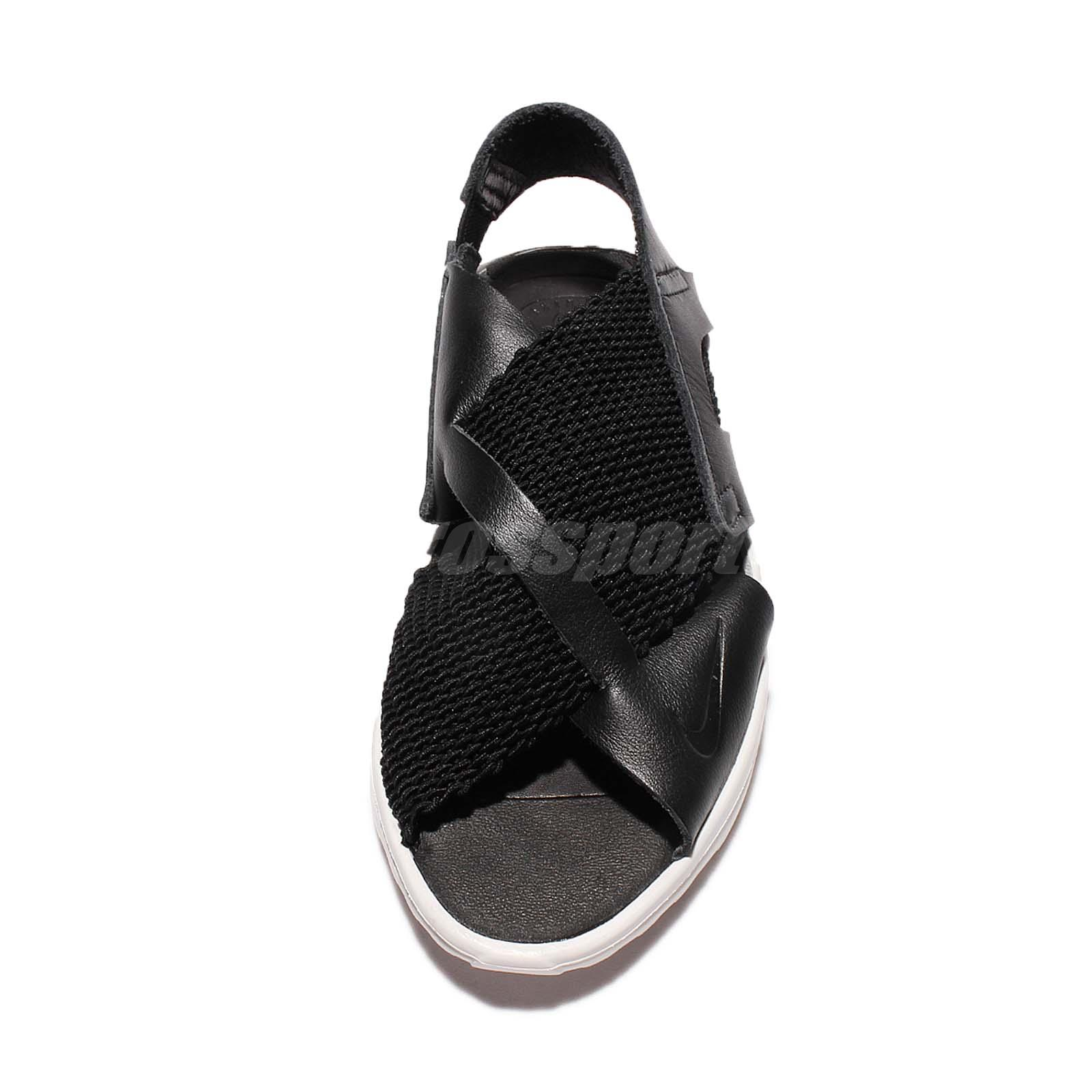 198641597812 Wmns Nike Air Huarache Ultra Black White Women Slip-On Sandals Shoes ...