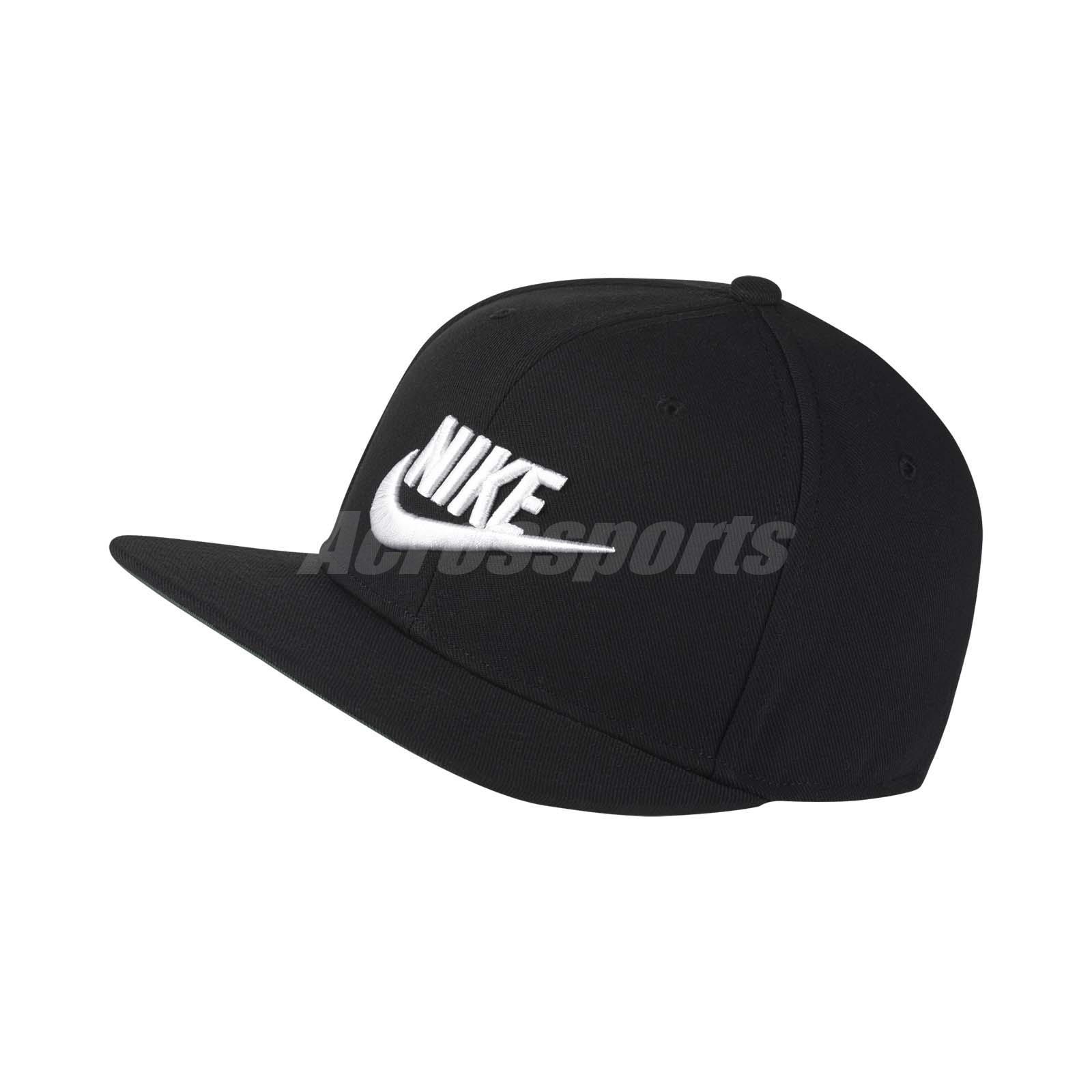 248fa33c9 Details about Nike Unisex NSW Pro Cap Futura Snapback Hat Sport Running  Black White 891284-010