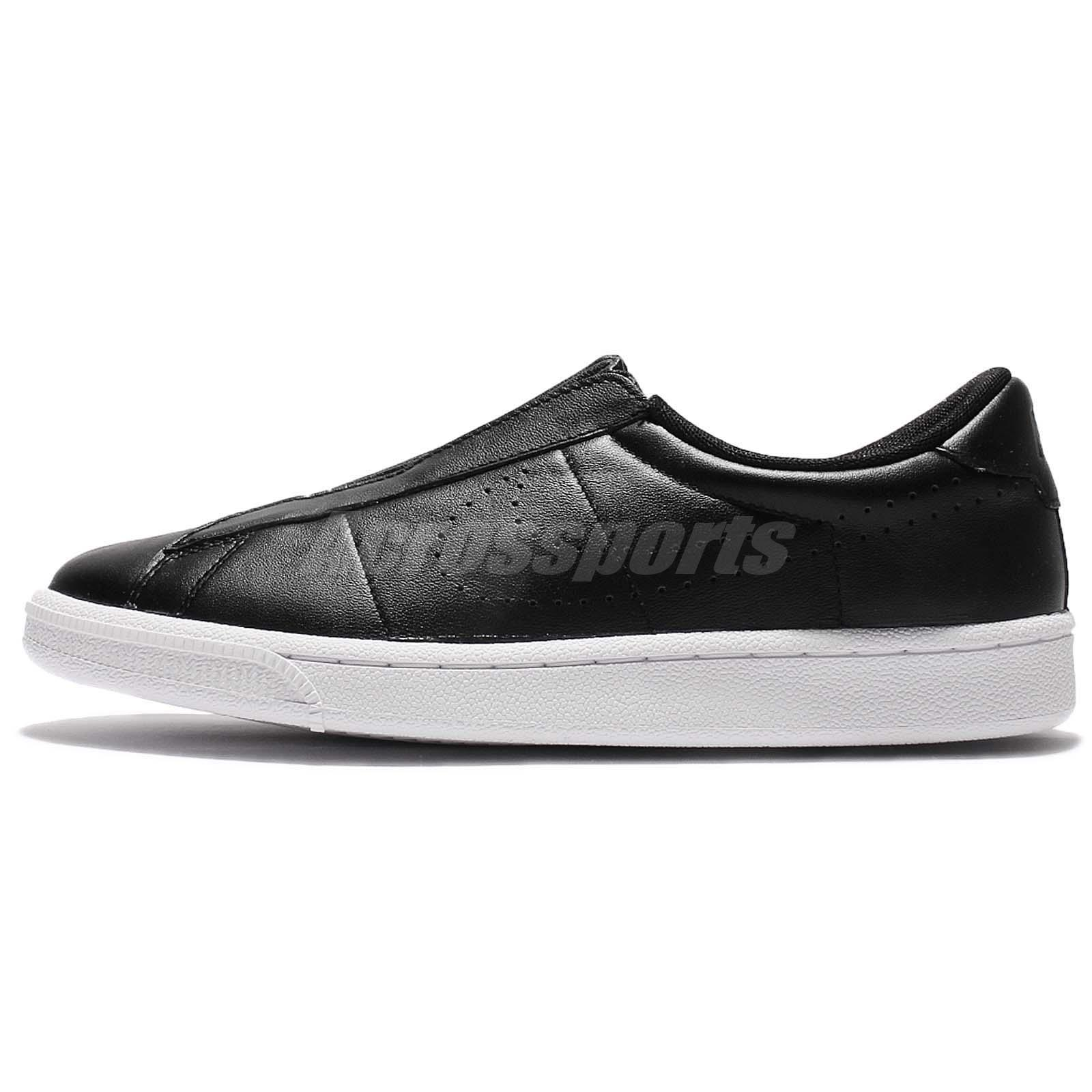 Wmns Nike Tennis Classic Ease Black Leather Women Shoes Slip-On ...